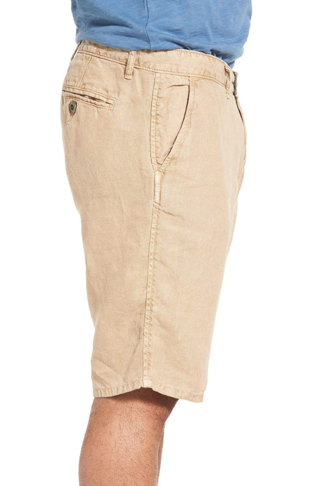 'Havana' Linen Shorts,                             Alternate thumbnail 22, color,