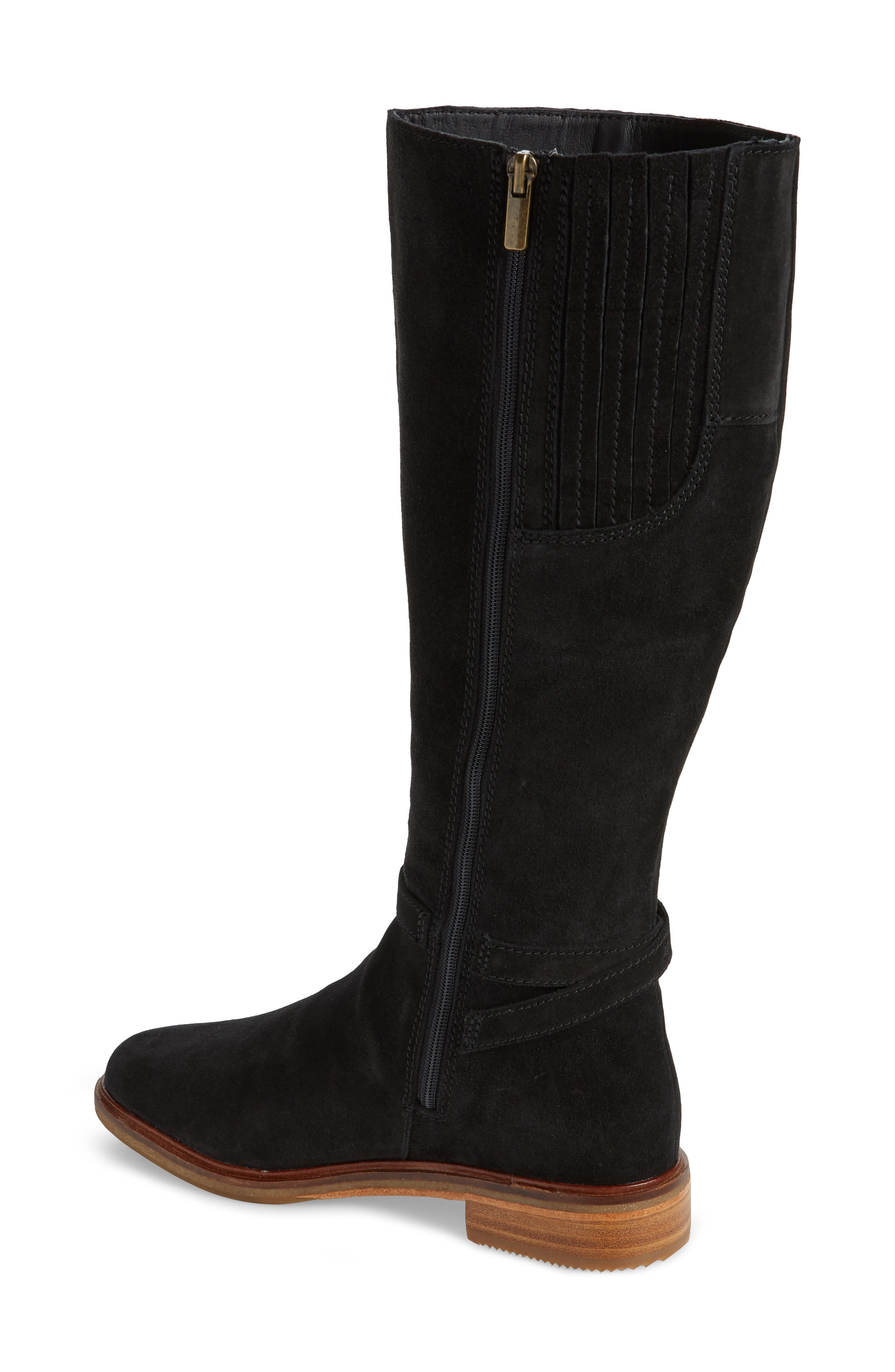Clarkdale Clad Boot,                             Alternate thumbnail 2, color,                             BLACK SUEDE