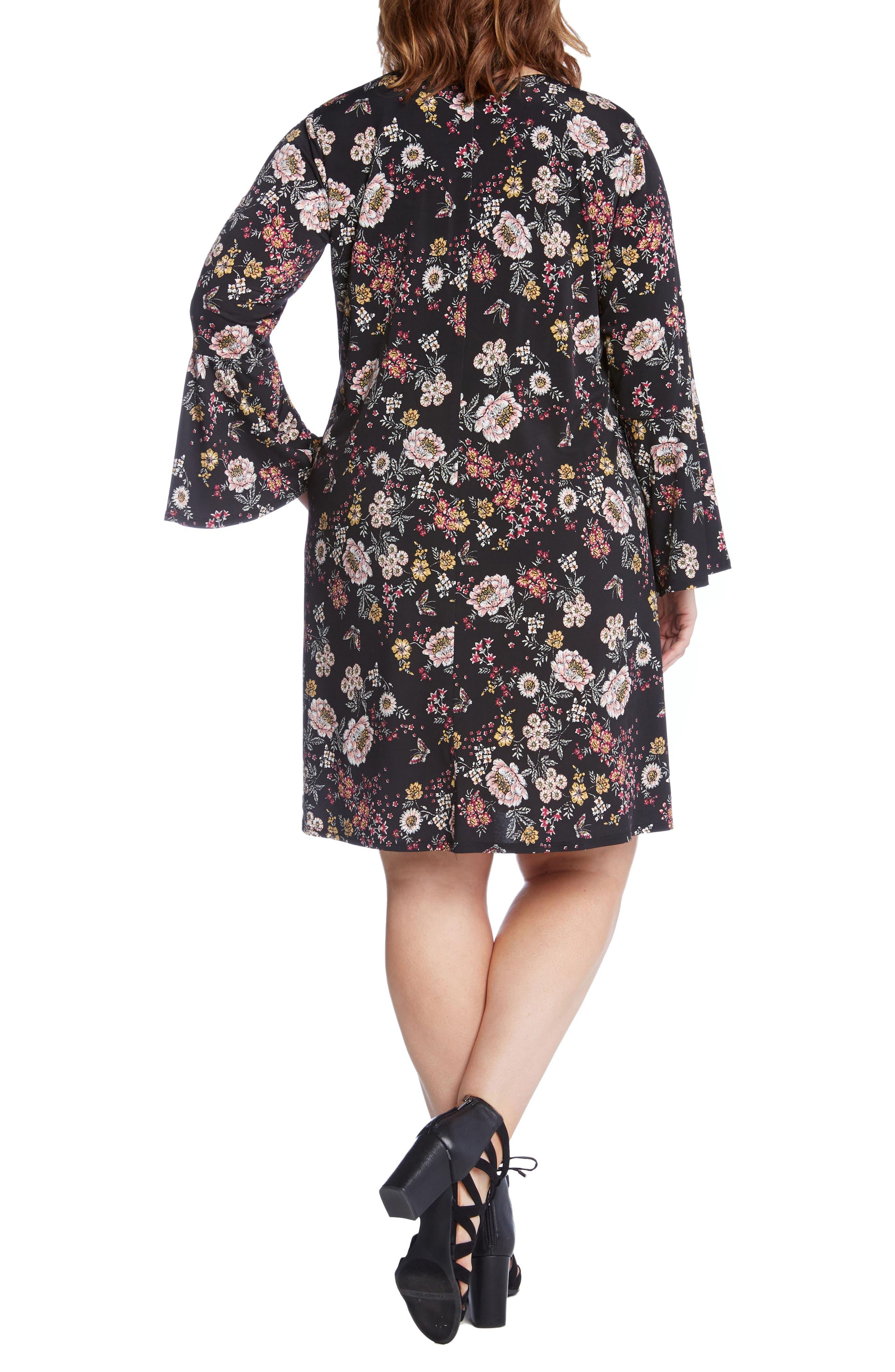 Taylor Floral A-Line Dress,                             Alternate thumbnail 2, color,                             663