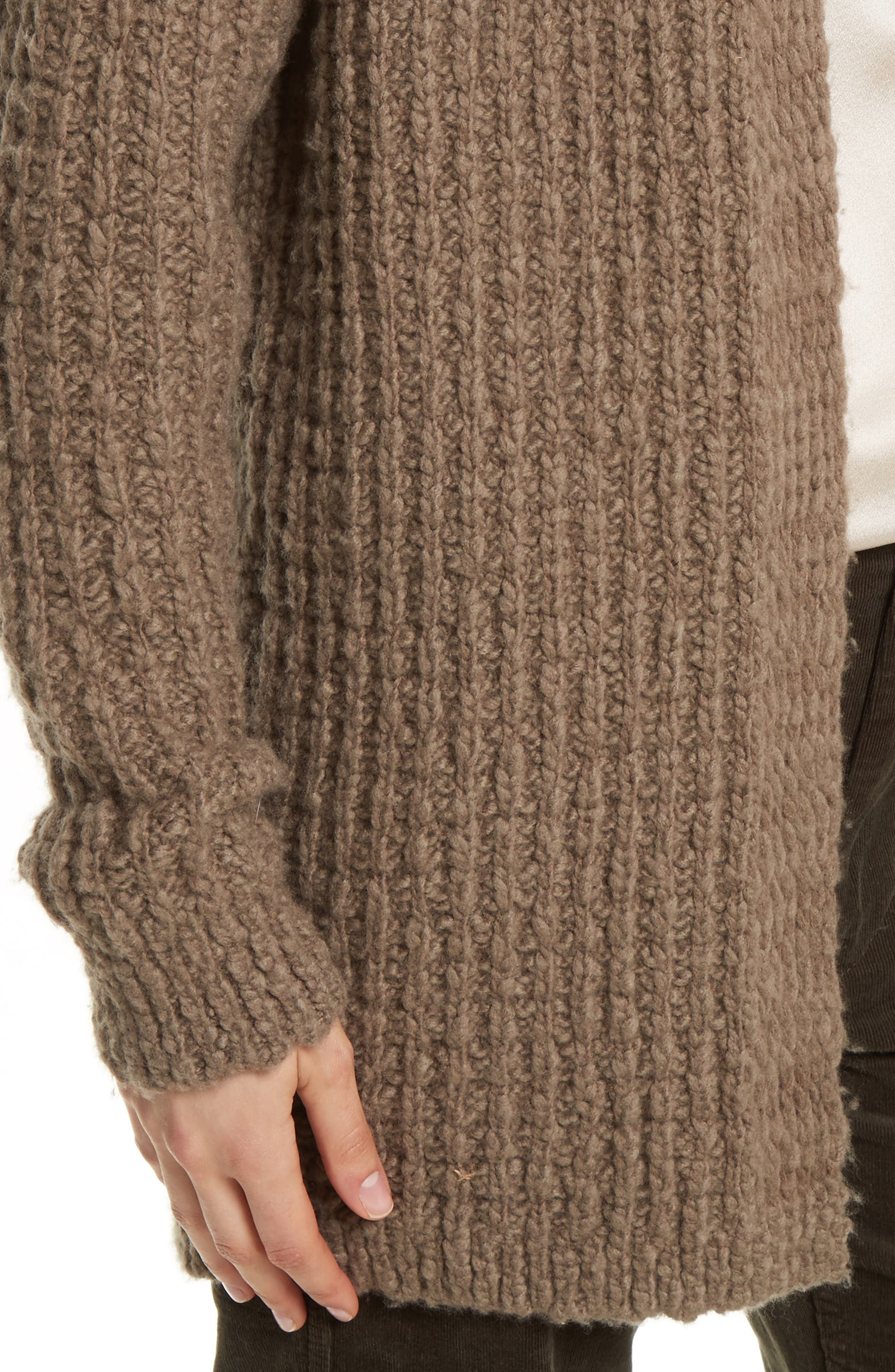 Waffle Stitch Cardigan,                             Alternate thumbnail 4, color,                             206