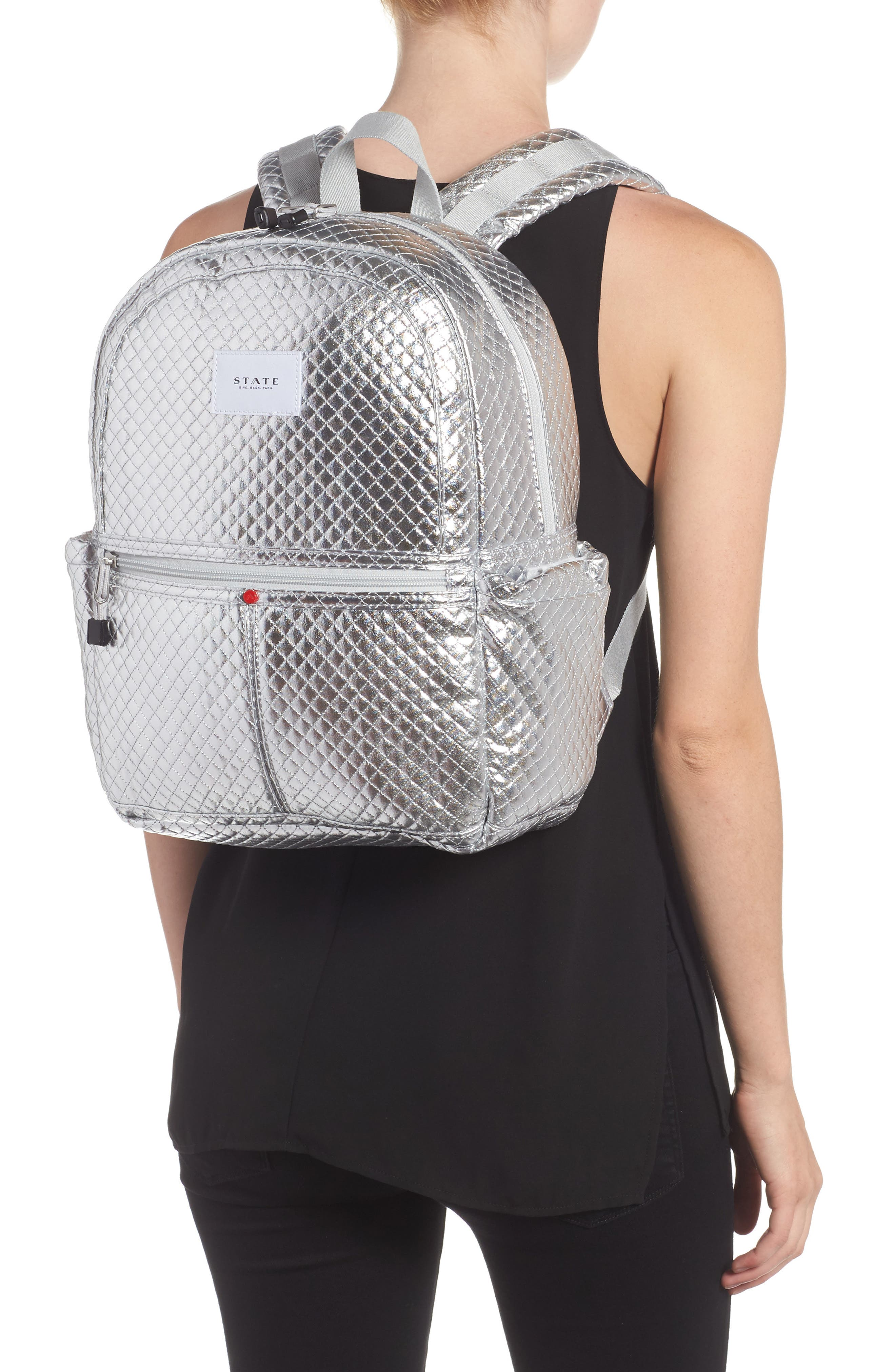 Quilted Metallic Kane Backpack,                             Alternate thumbnail 2, color,                             041