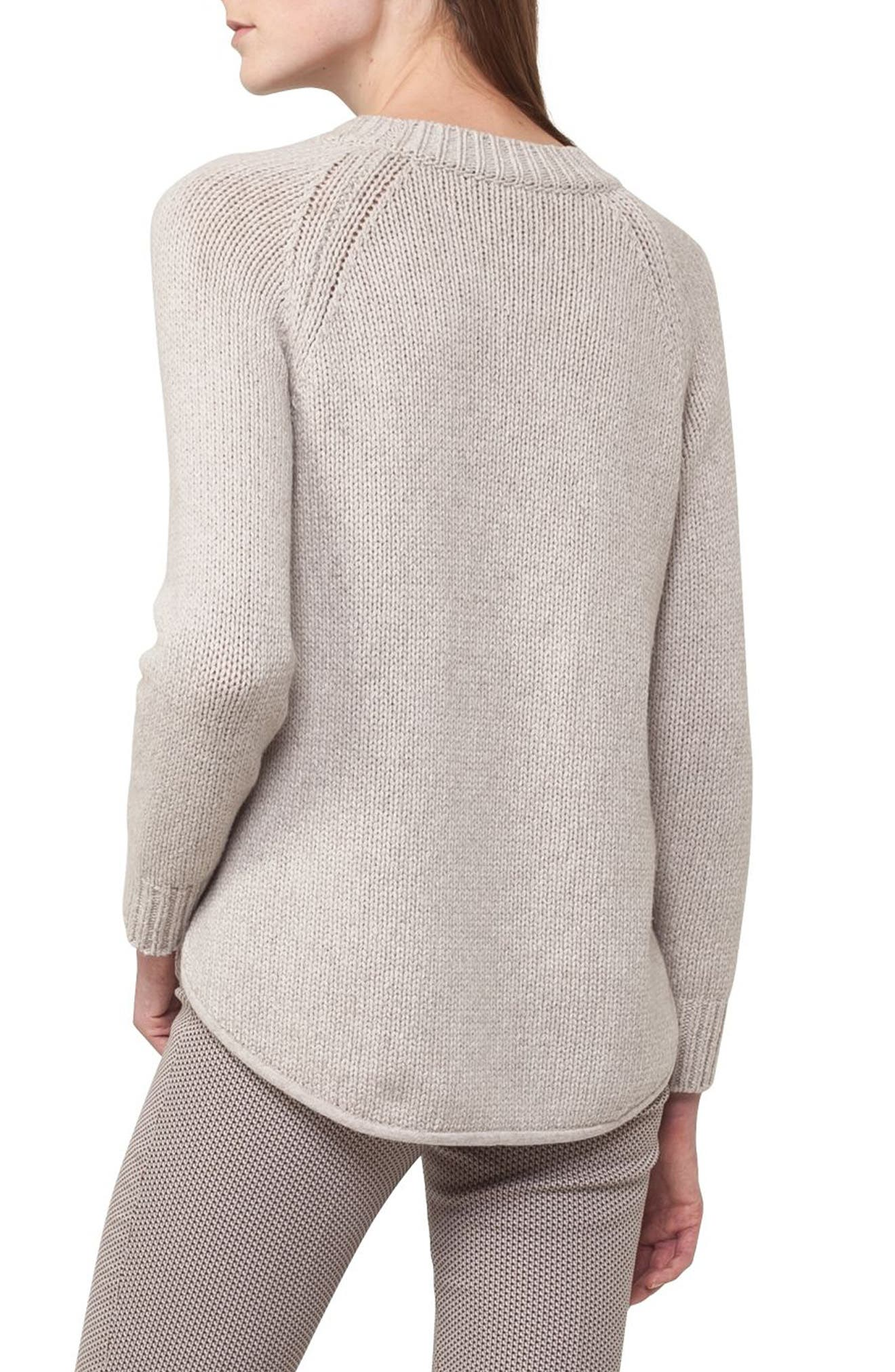 Quadrant Circle Cashmere Blend Pullover,                             Alternate thumbnail 3, color,