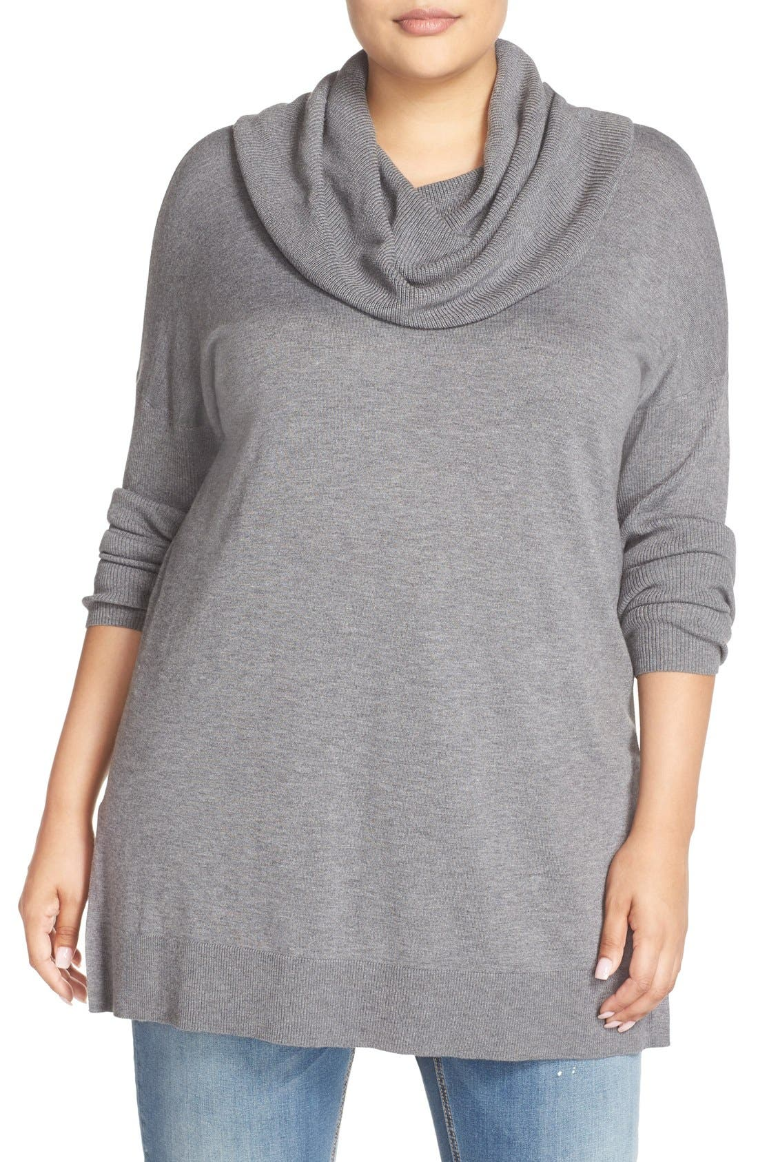 Cowl Neck Tunic Sweater,                             Main thumbnail 3, color,