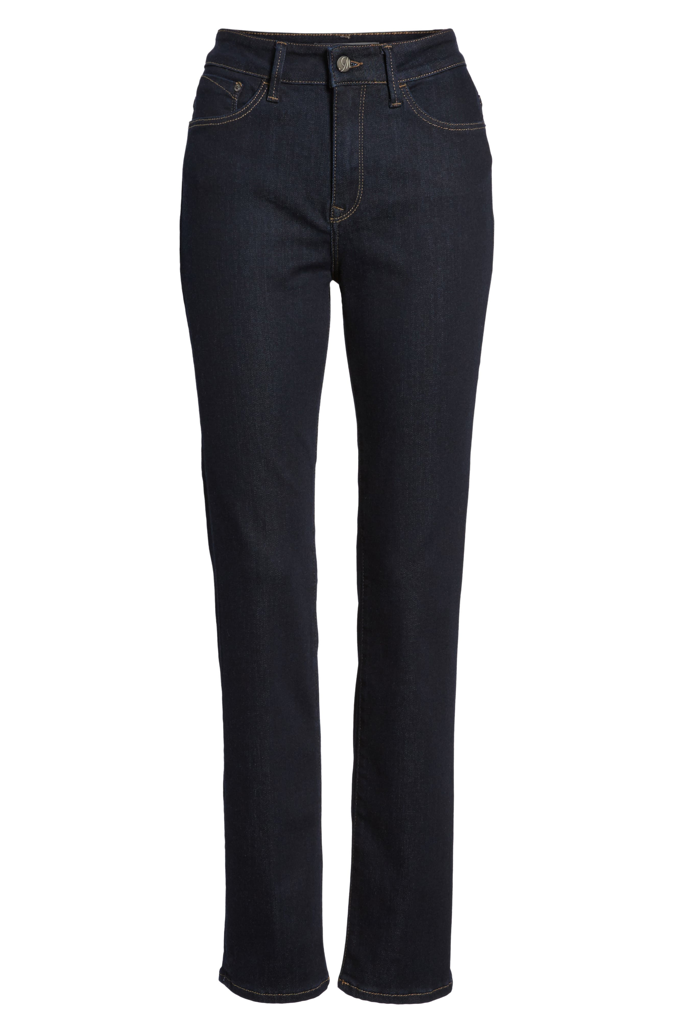 Kendra Supersoft Straight Leg Jeans,                             Alternate thumbnail 7, color,                             RINSE SUPER SOFT