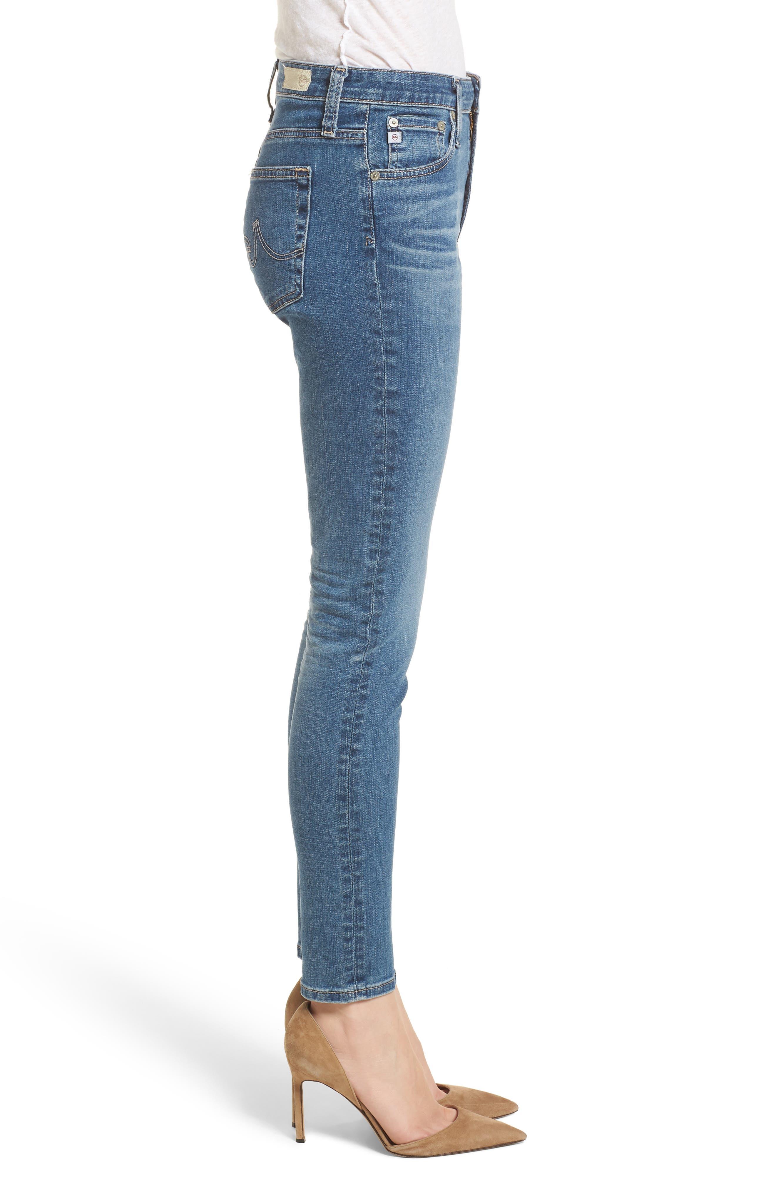The Farrah High Waist Ankle Skinny Jeans,                             Alternate thumbnail 3, color,                             414