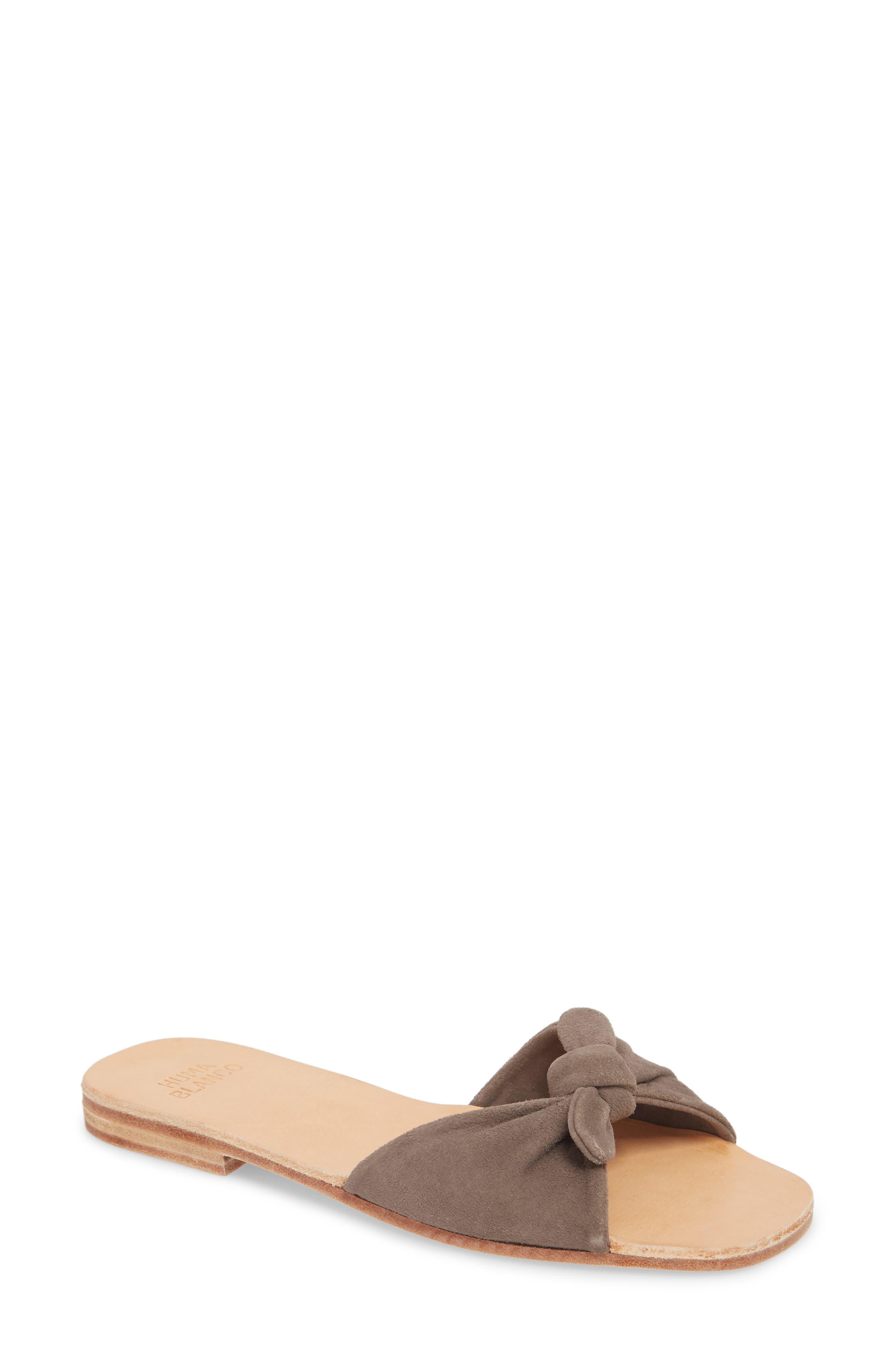 Milan Slide Sandal, Main, color, GREY SUEDE