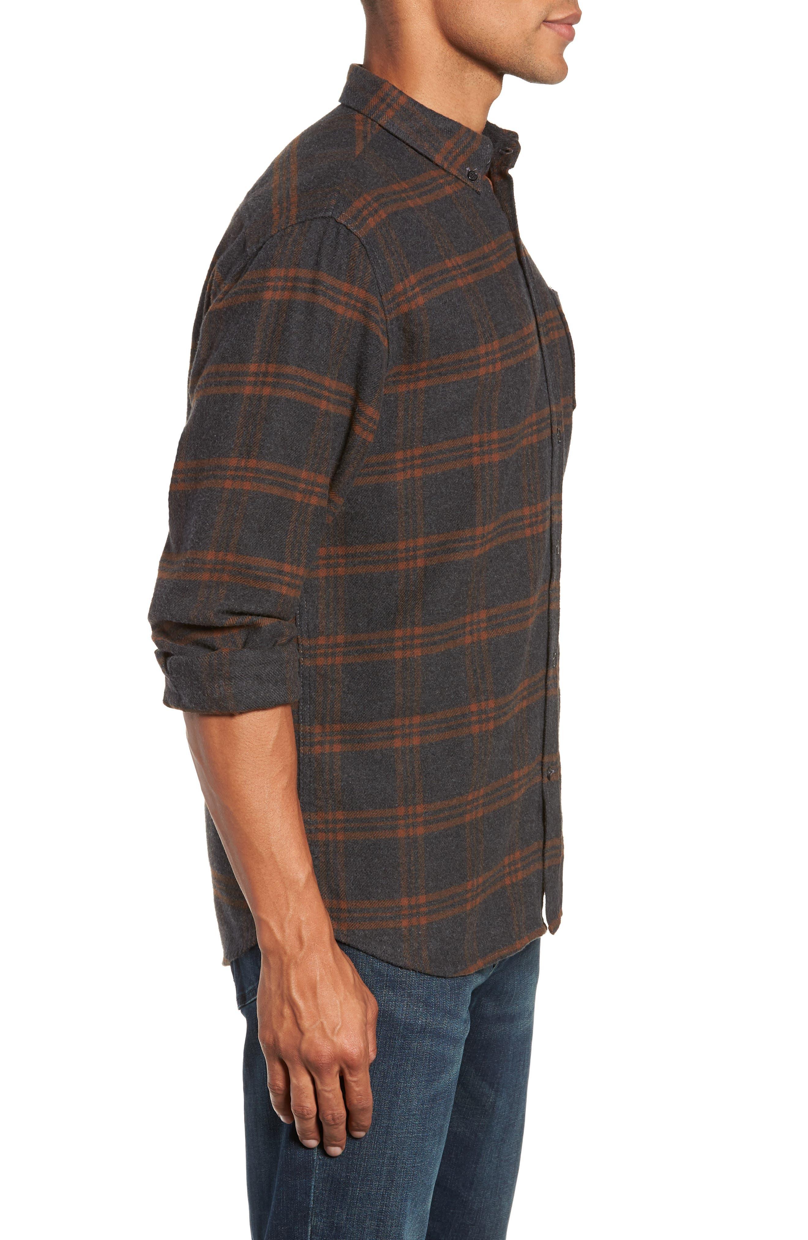 BILLY REID,                             Plaid Cotton Flannel Shirt,                             Alternate thumbnail 3, color,                             020