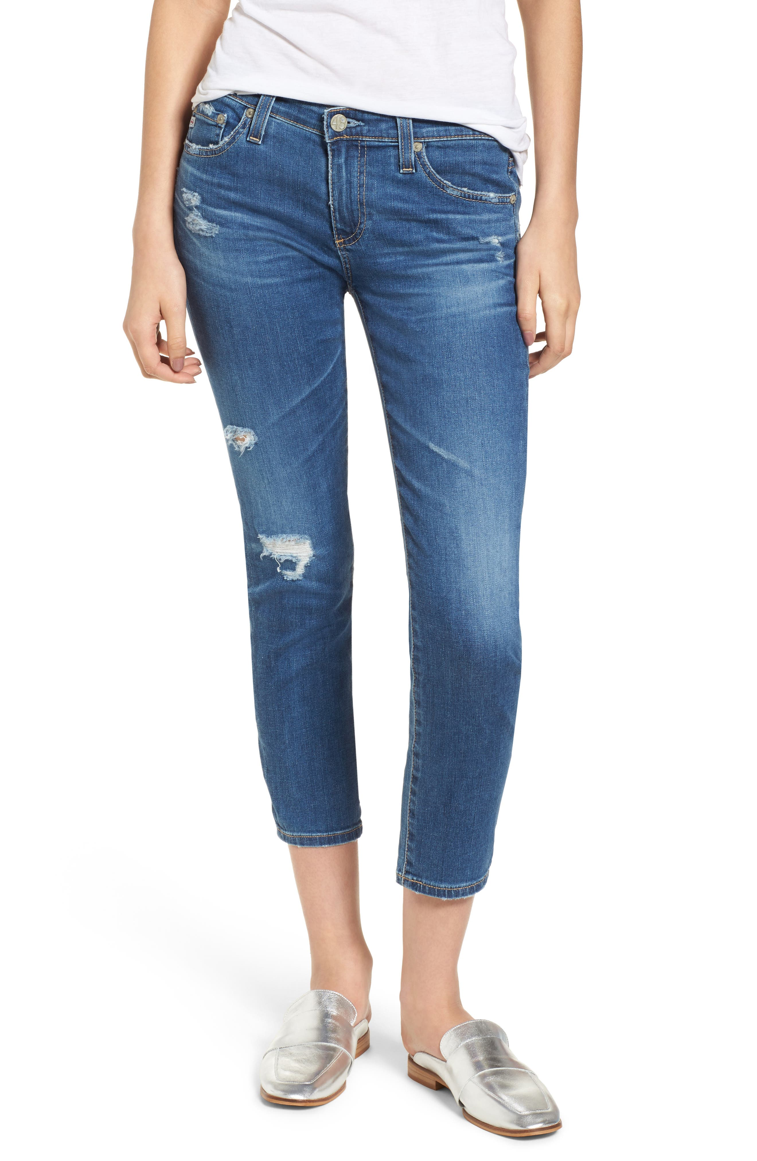 AG,                             Jeans 'The Stilt' Crop Skinny Stretch Jeans,                             Main thumbnail 1, color,                             471