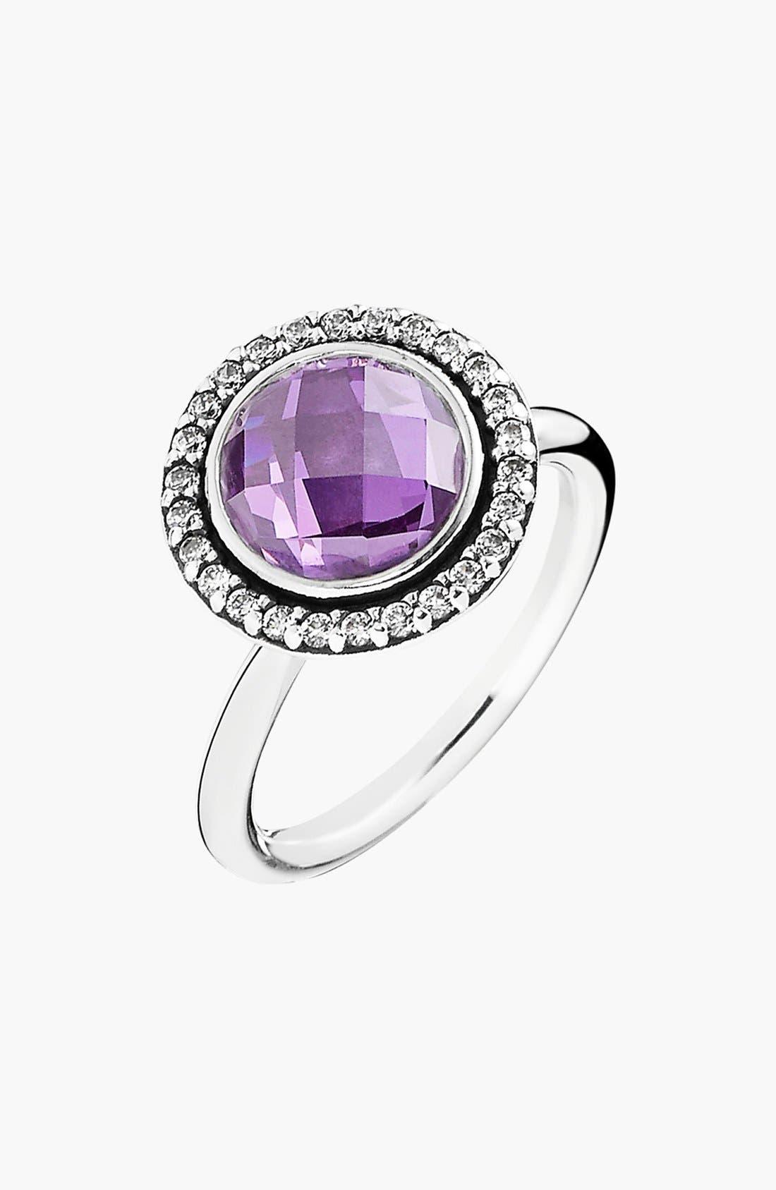 PANDORA,                             'Brilliant Legacy' Cocktail Ring,                             Main thumbnail 1, color,                             040
