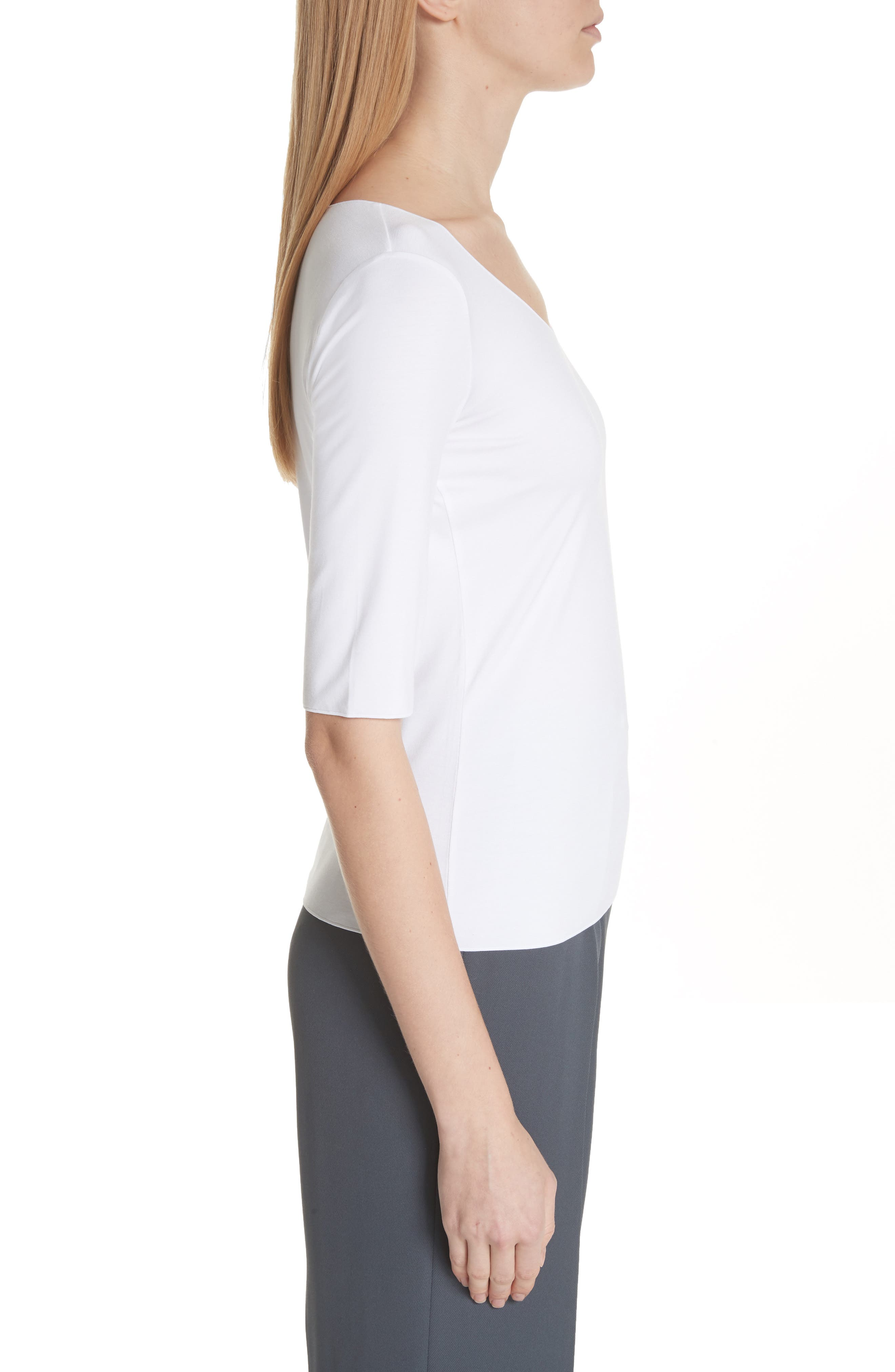 Stretch Knit Top,                             Alternate thumbnail 6, color,