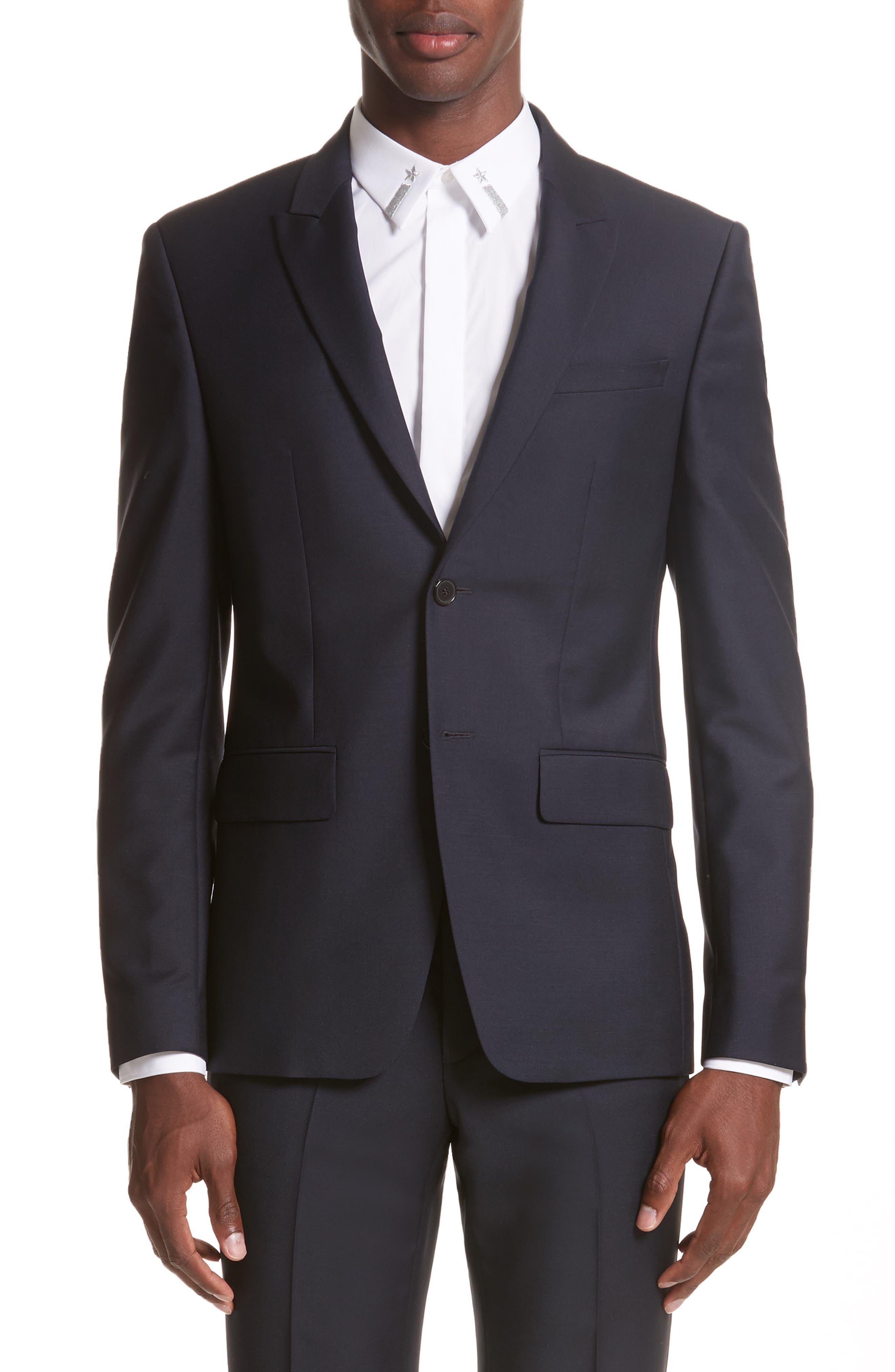 Wool & Mohair Suit,                             Alternate thumbnail 5, color,                             403