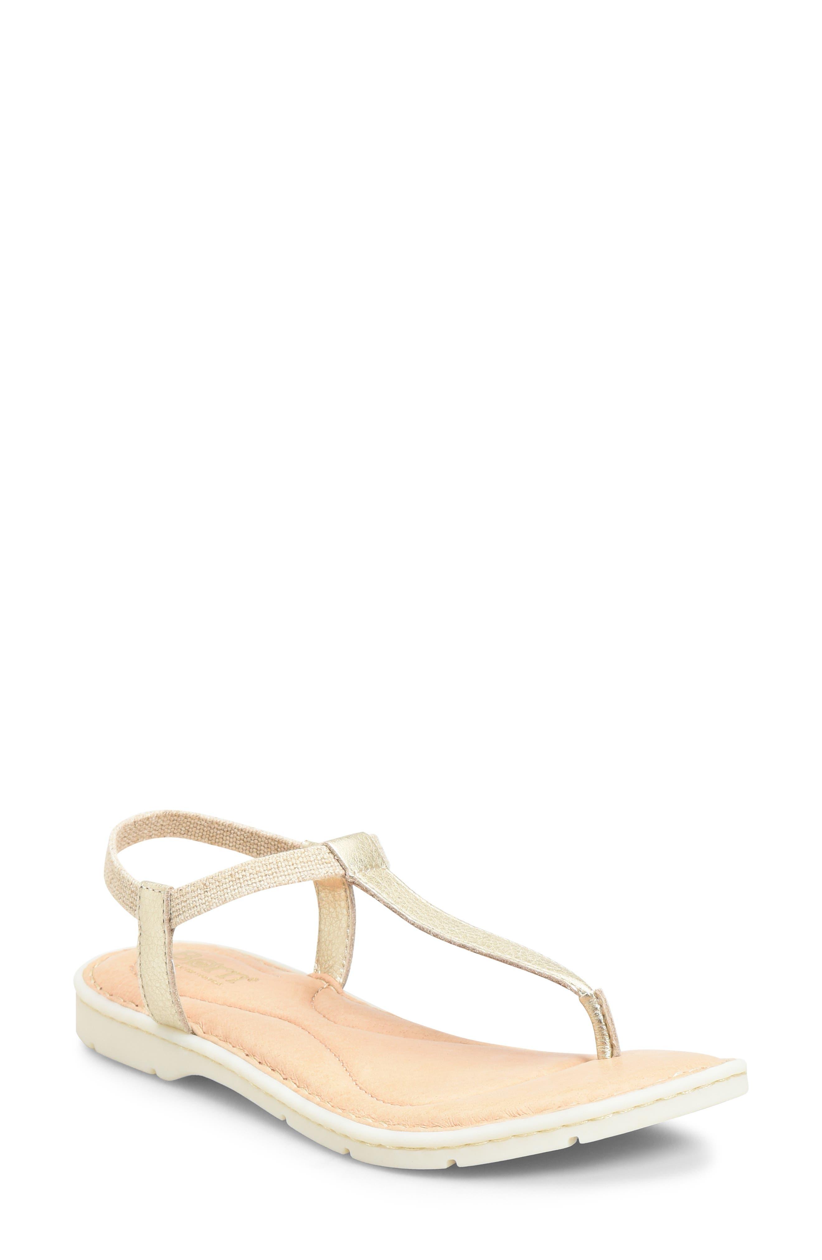 B?rn Trinity T-Strap Sandal, Metallic