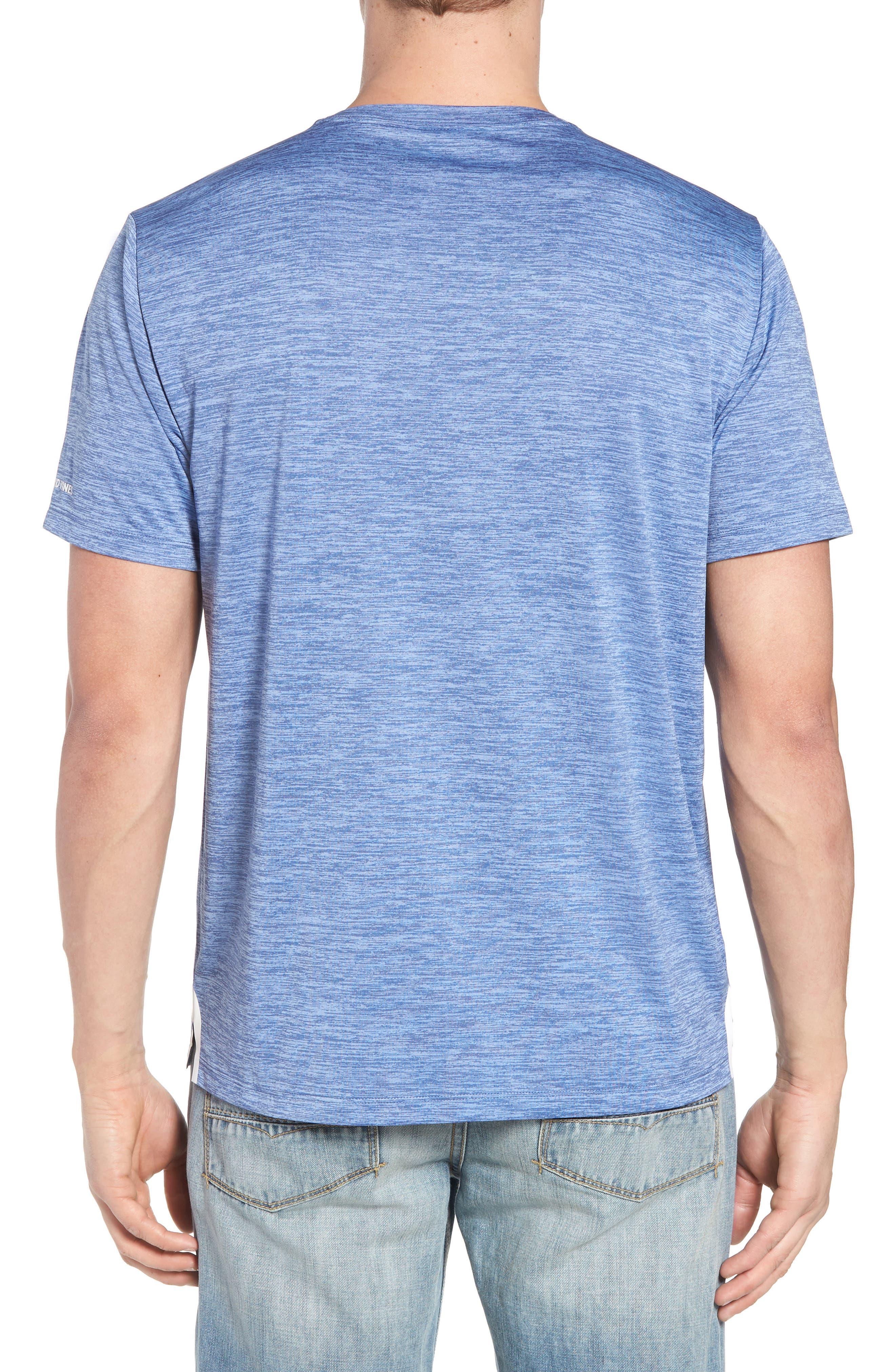 Space Dye Crewneck Performance T-Shirt,                             Alternate thumbnail 2, color,                             400
