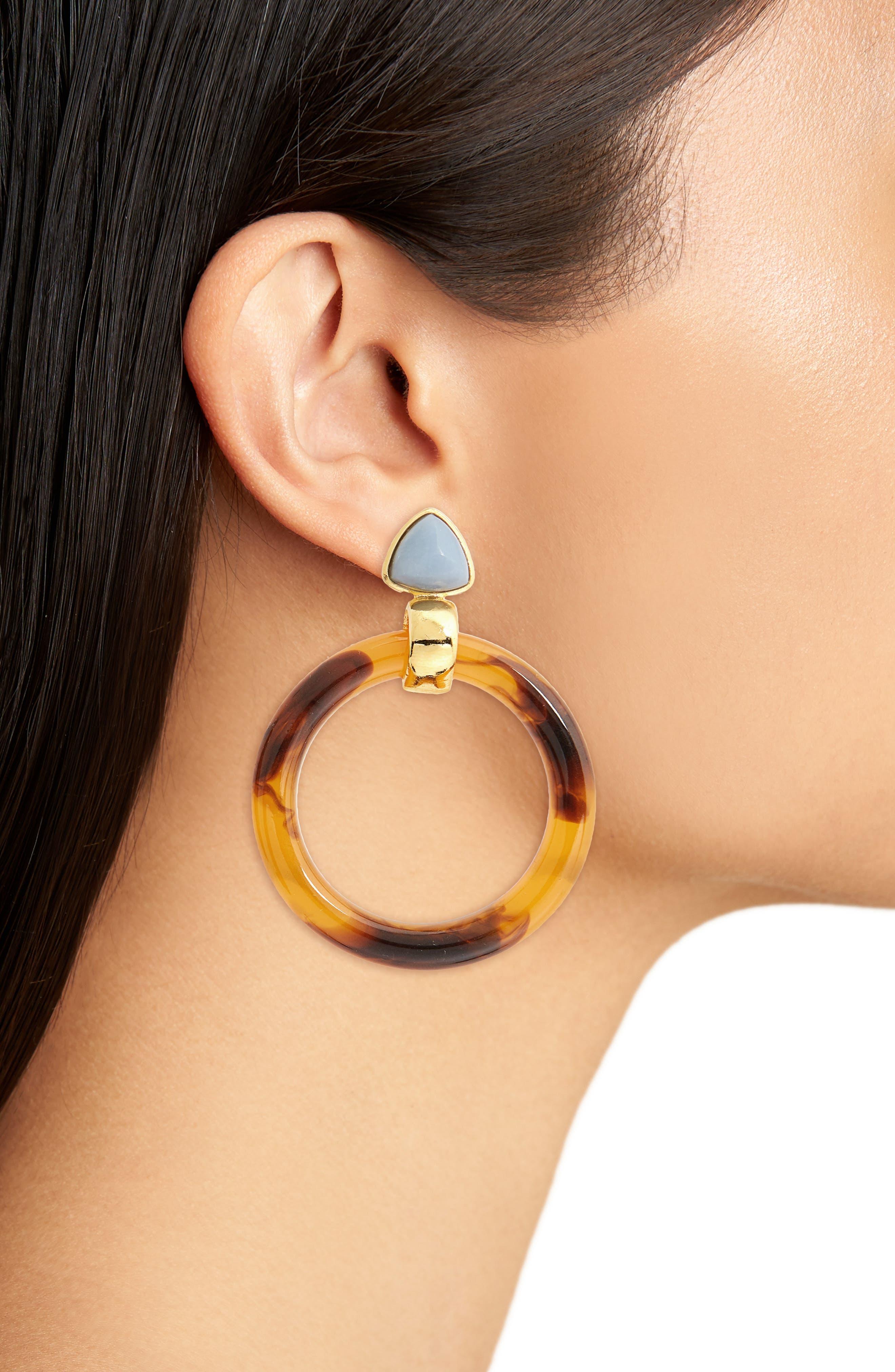 Sunset Hoop Earrings,                             Alternate thumbnail 2, color,