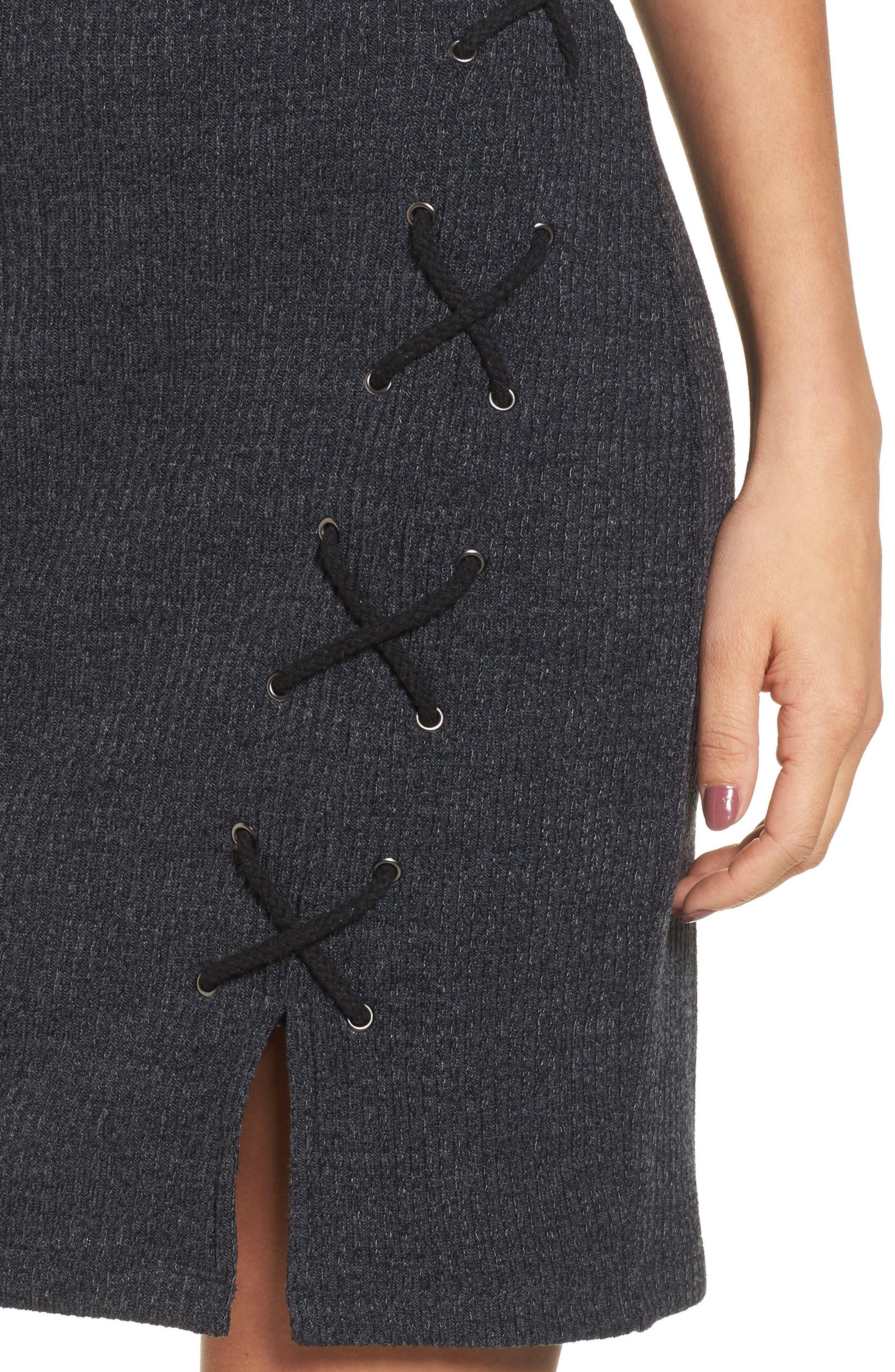 Monica Choker Neck Sweater Dress,                             Alternate thumbnail 4, color,                             020