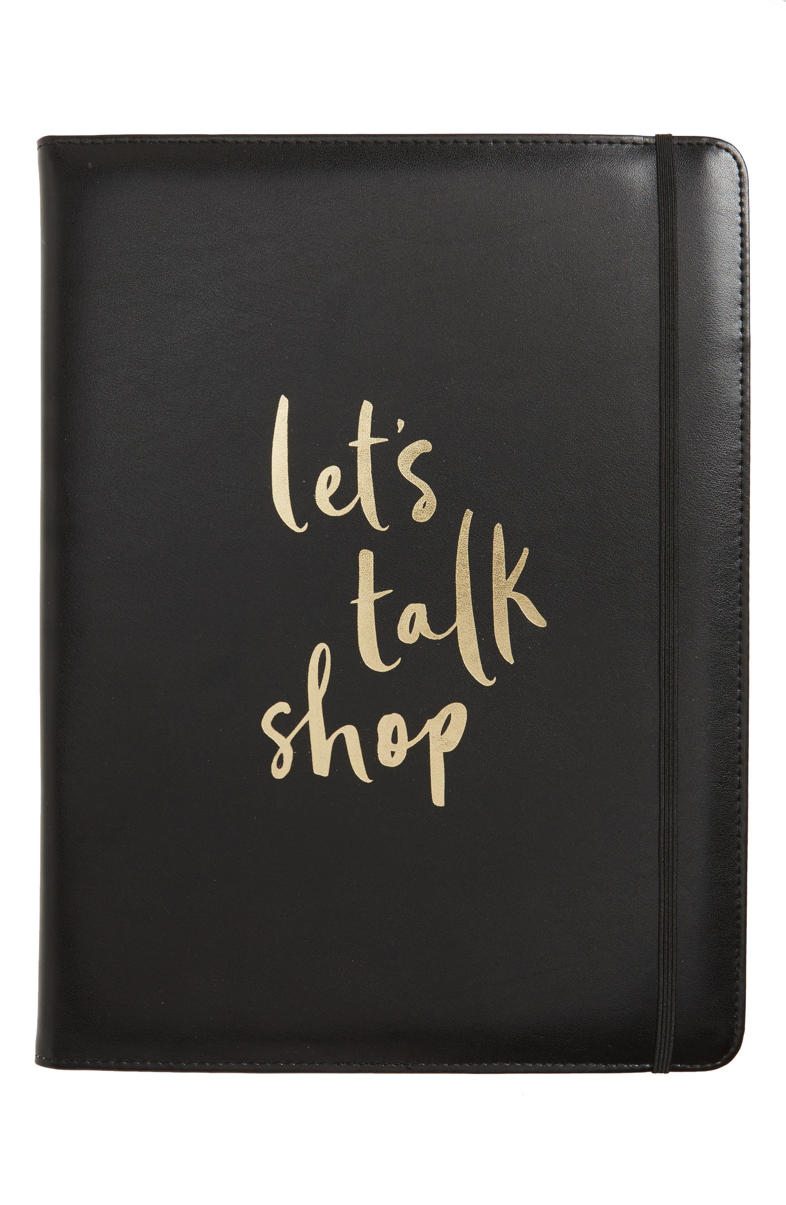 let's talk shop notepad folio,                         Main,                         color, 001