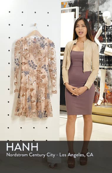 Aurora Embroidered Fit & Flare Dress, sales video thumbnail