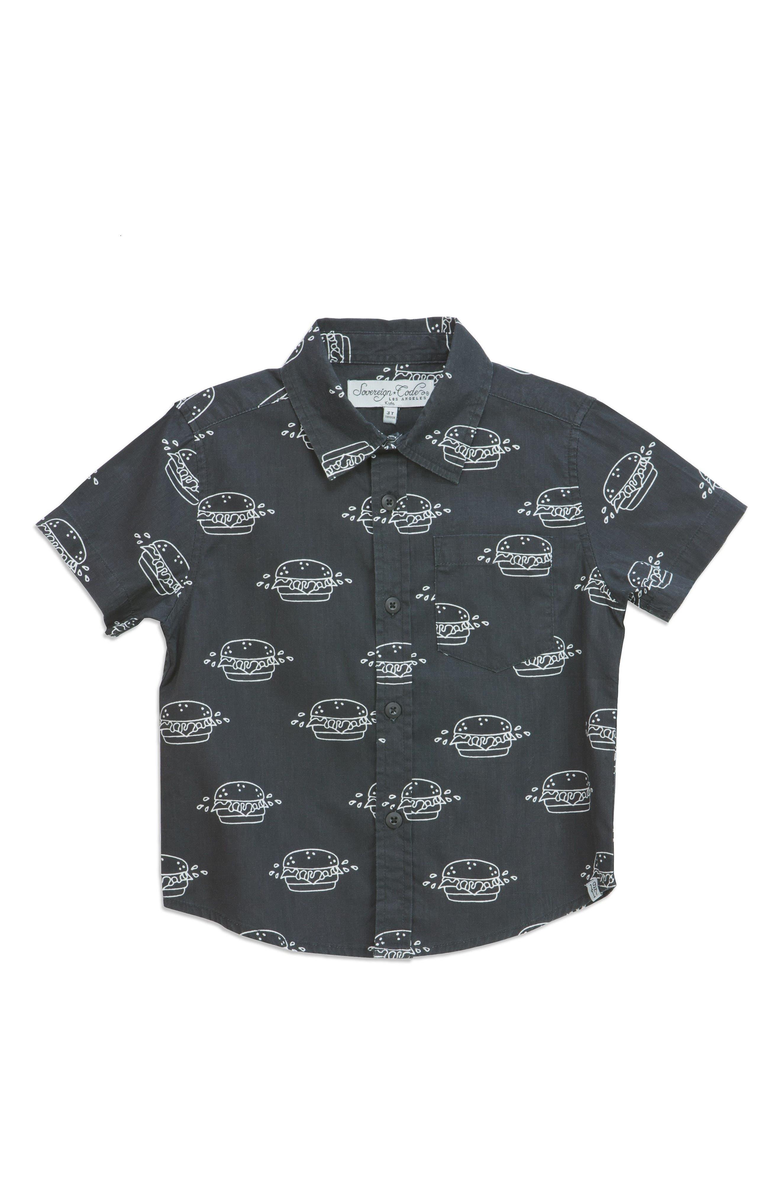 Stroll Print Woven Shirt,                             Main thumbnail 1, color,                             020