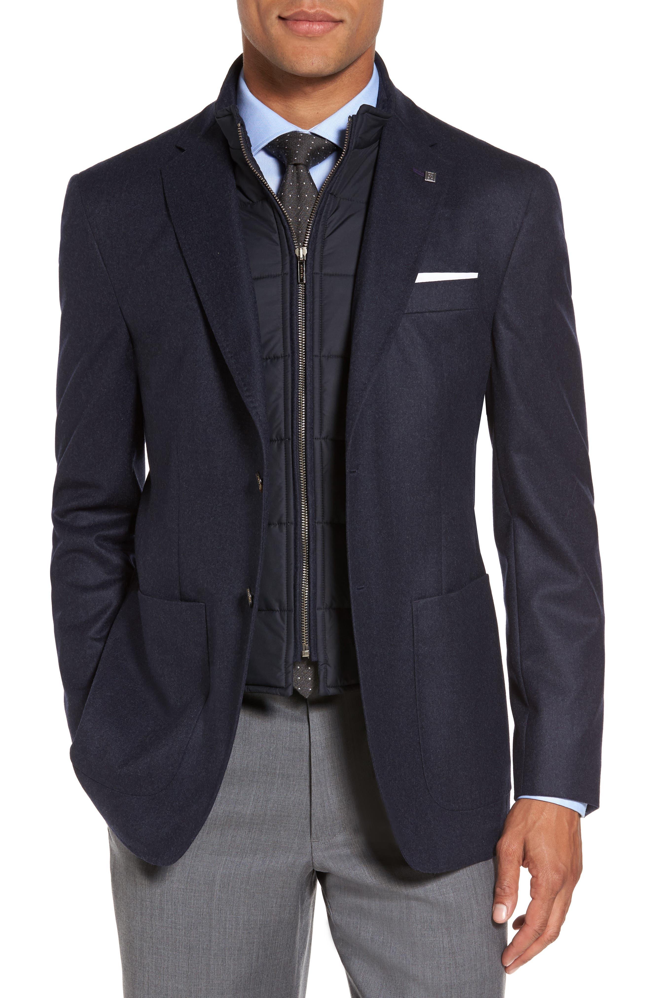 Tucker Trim Fit Plaid Wool Sport Coat,                         Main,                         color, 400