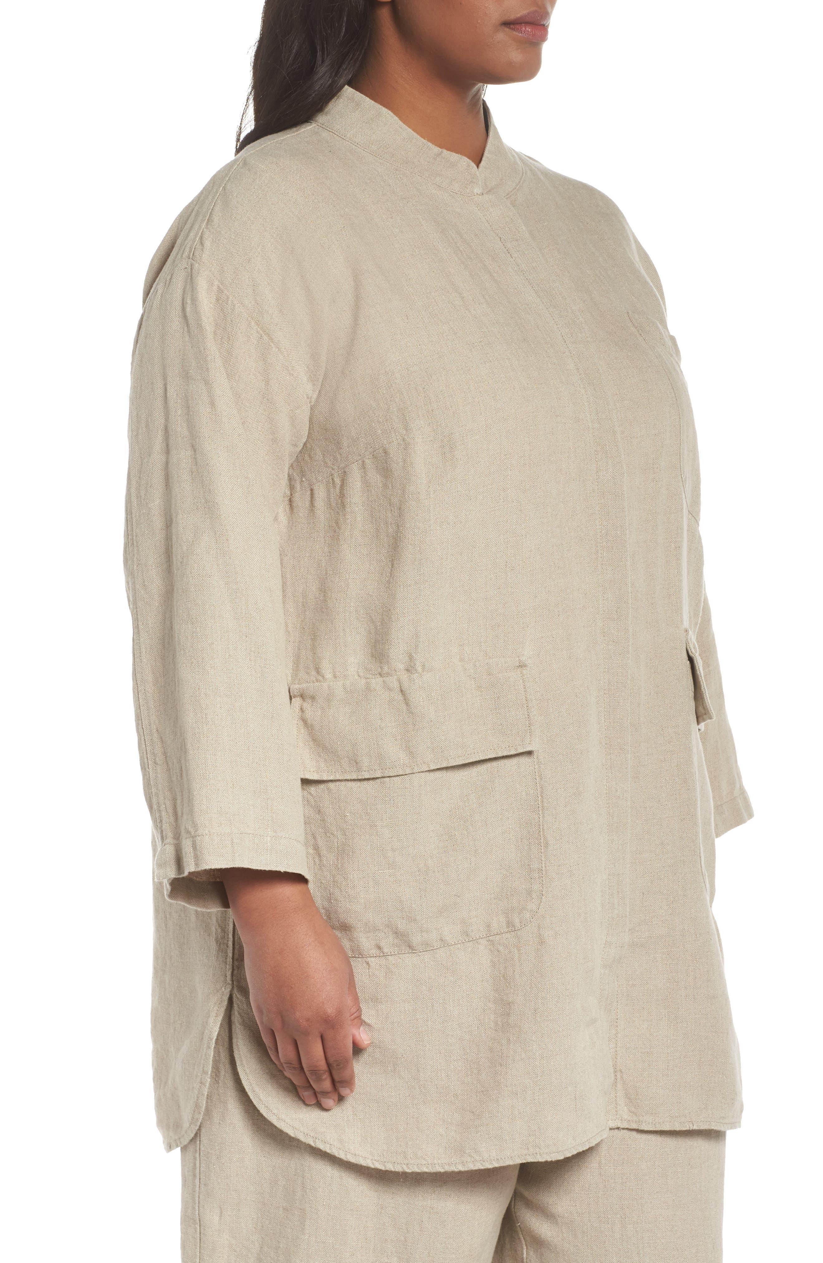 Organic Linen Jacket,                             Alternate thumbnail 3, color,                             251