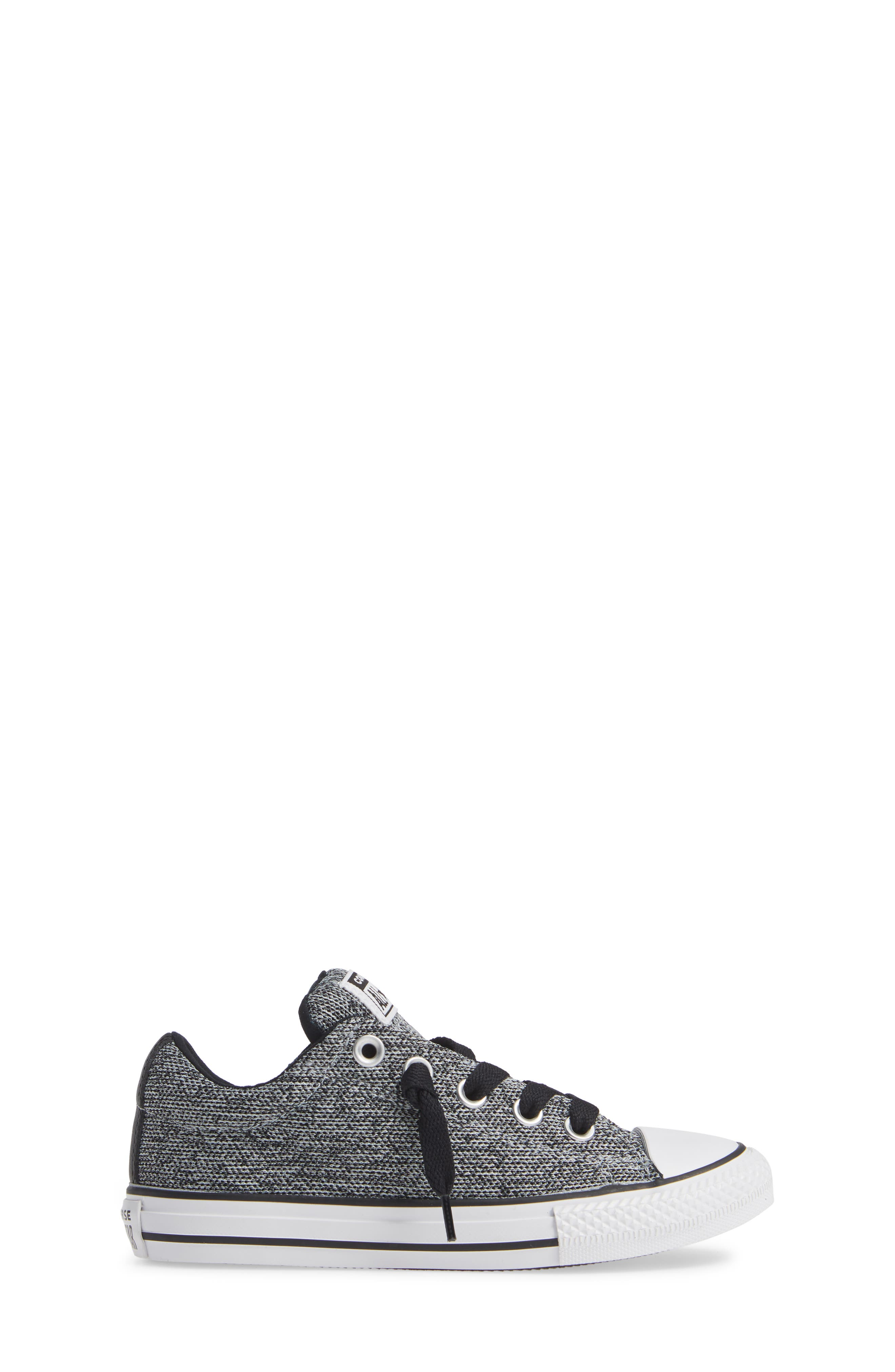 CONVERSE,                             All Star<sup>®</sup> Graphite Textured Street Low Top Sneaker,                             Alternate thumbnail 3, color,                             WOLF GREY
