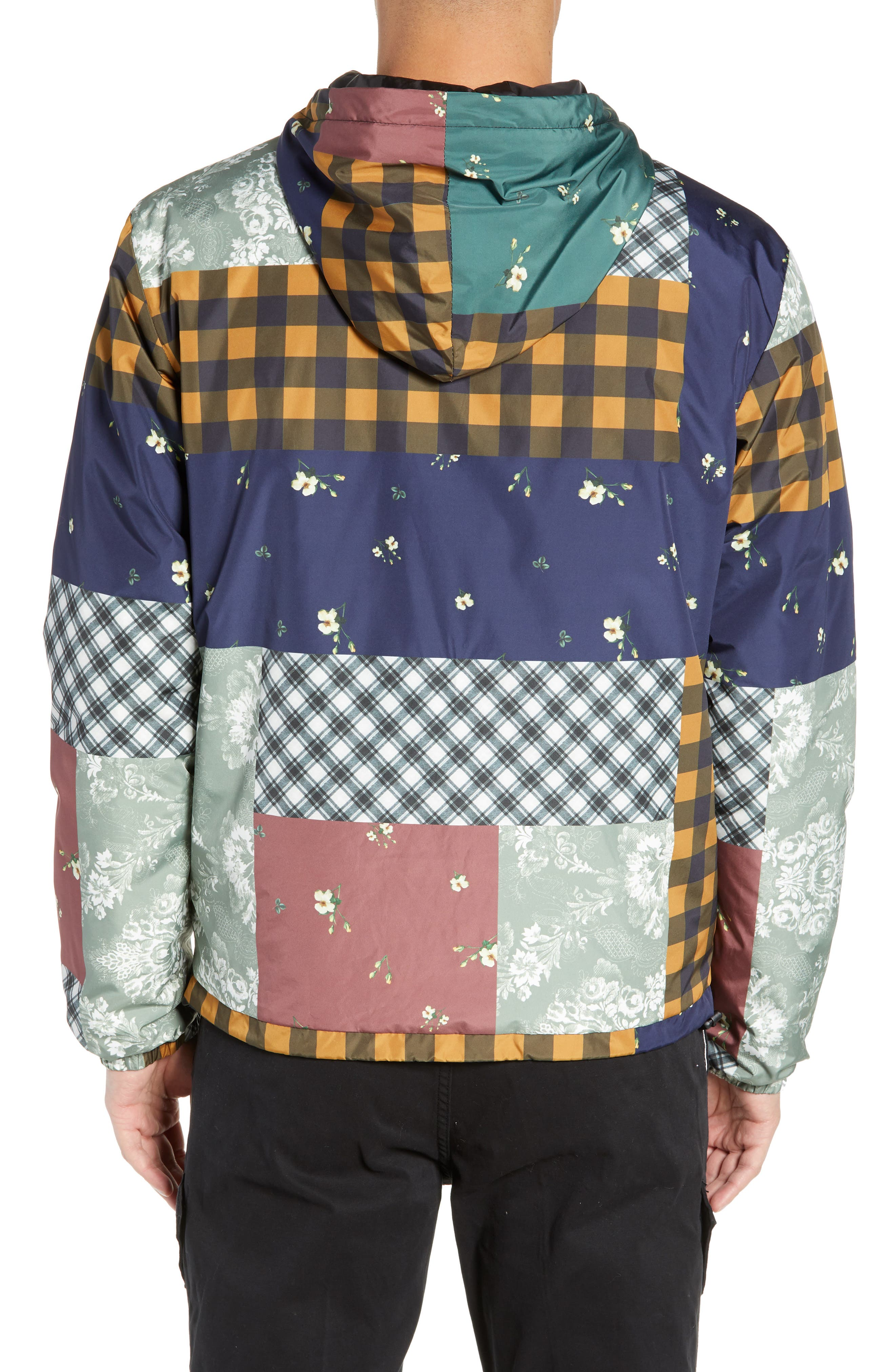 WESC,                             Patchwork Print Windbreaker,                             Alternate thumbnail 2, color,                             400