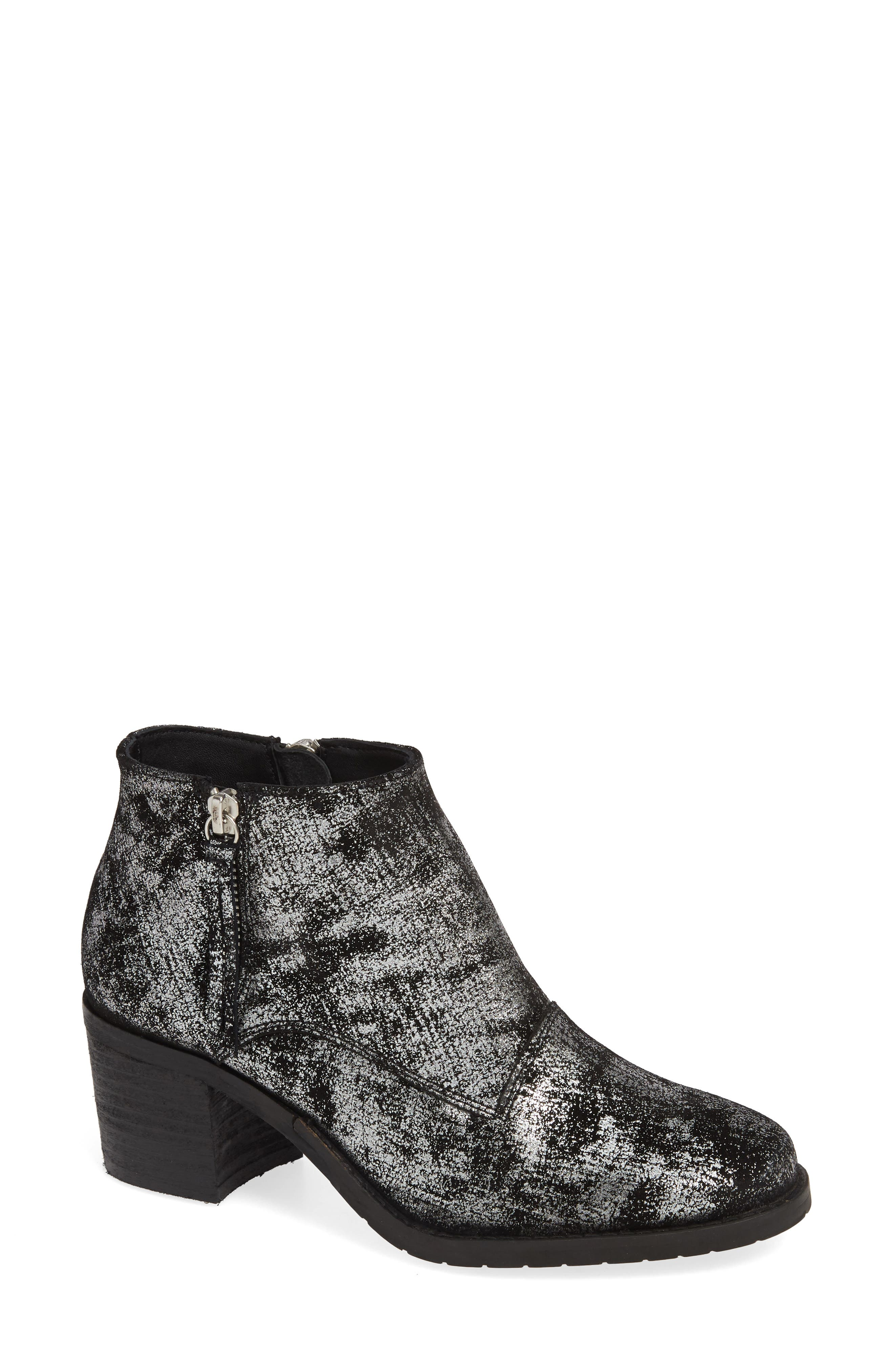 SBICCA Frontage Double Zip Bootie, Main, color, PEWTER LEATHER