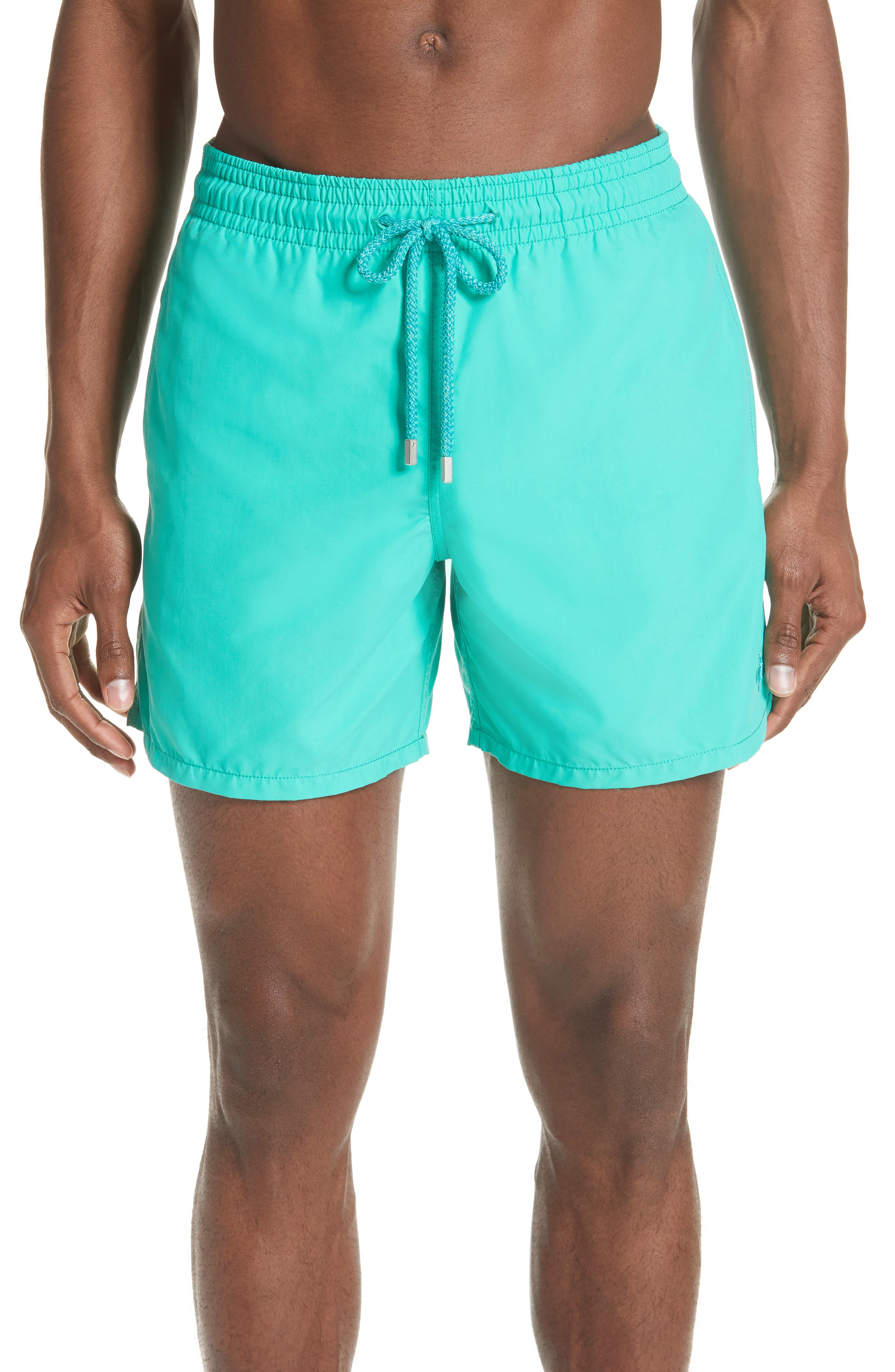 Hypnotique Turtles Water Reactive Swim Trunks,                             Main thumbnail 1, color,                             VERONESE GREEN
