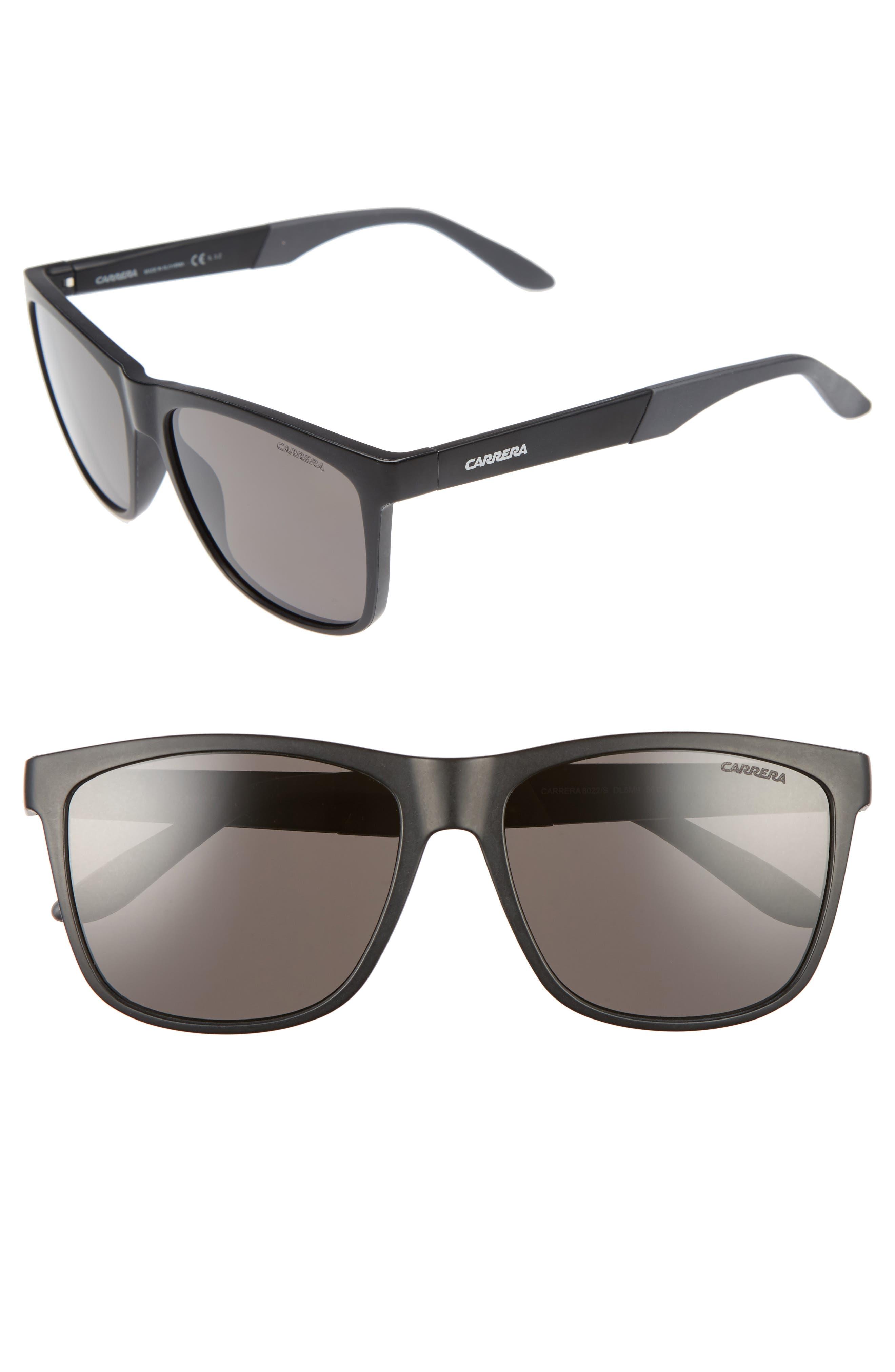 Carerra Eyewear 56mm Retro Polarized Sunglasses,                             Main thumbnail 1, color,                             001
