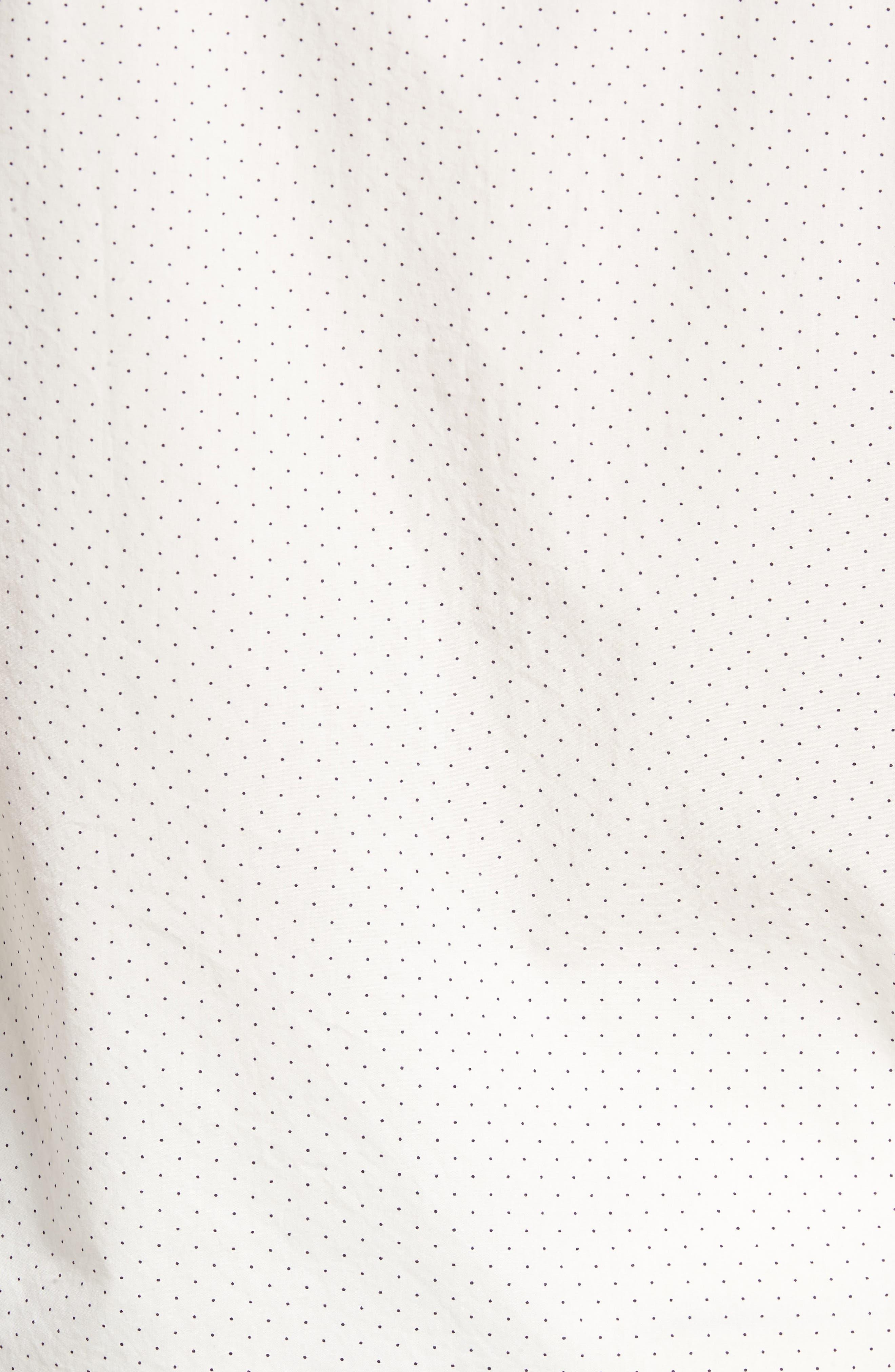 Unbutton Down 2.0 Slim Fit Dot Sport Shirt,                             Alternate thumbnail 5, color,                             100