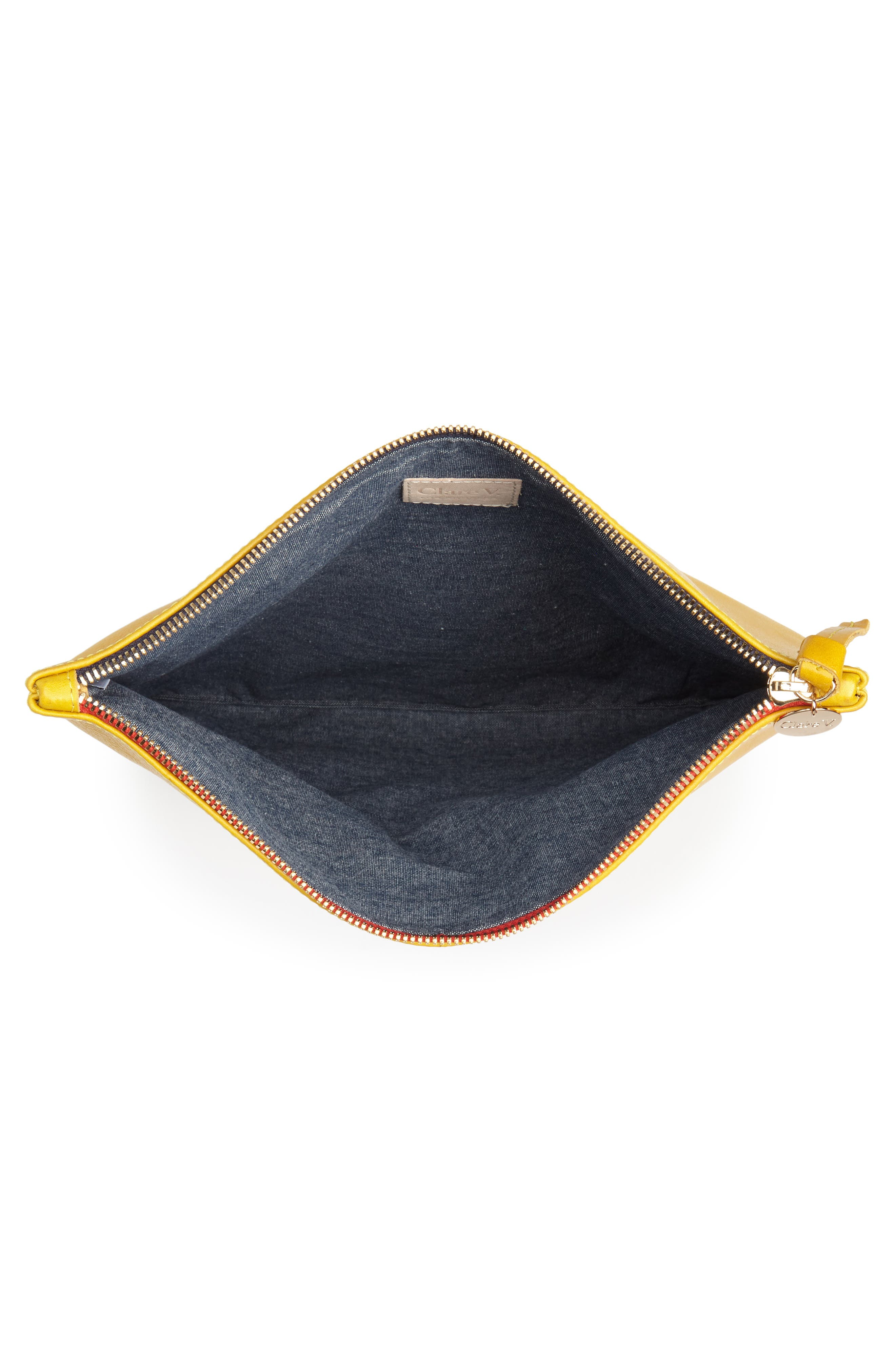 Leather Foldover Clutch,                             Alternate thumbnail 4, color,                             700