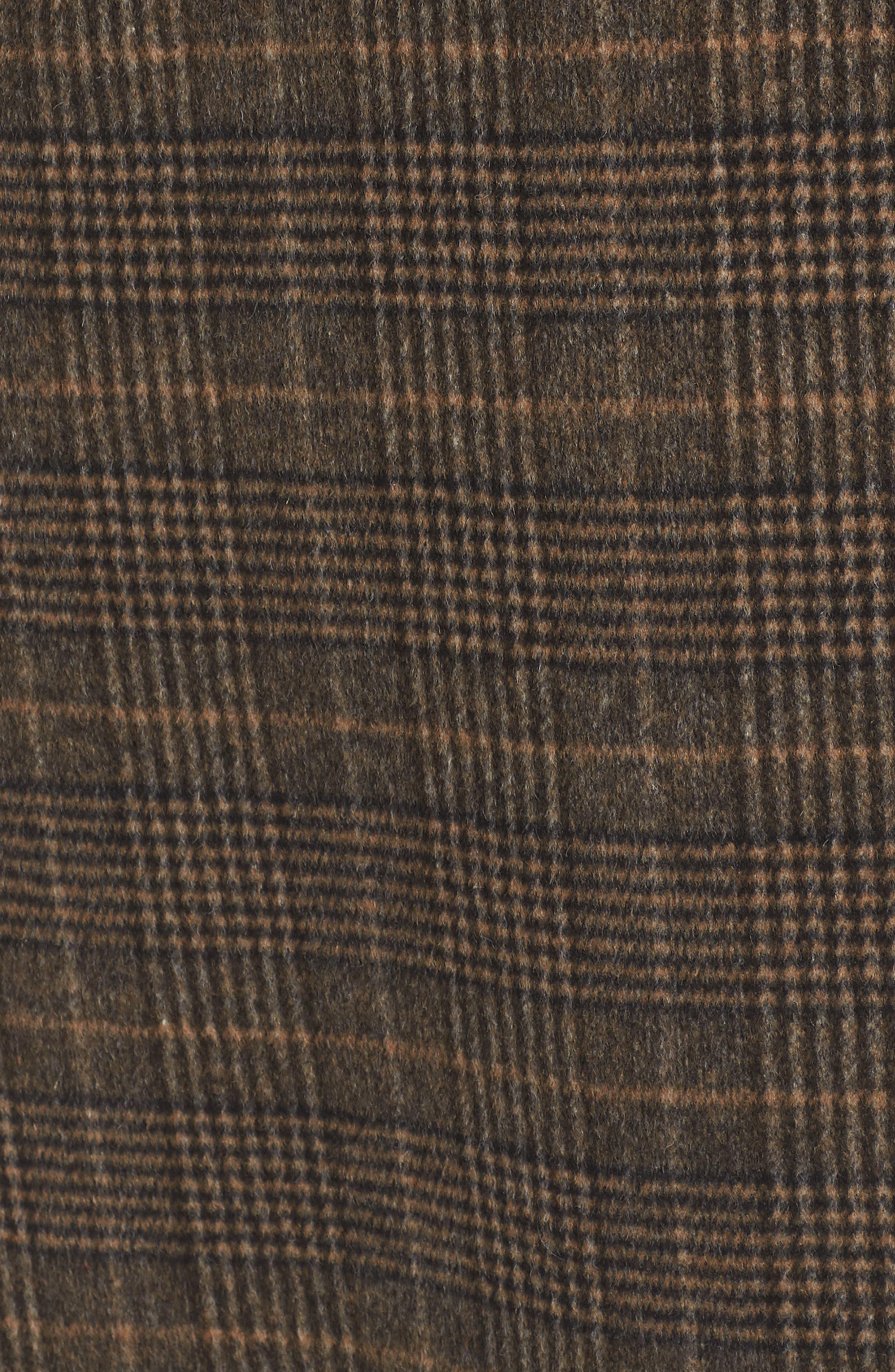 Double Face Plaid Wool Blend Coat,                             Alternate thumbnail 7, color,                             218
