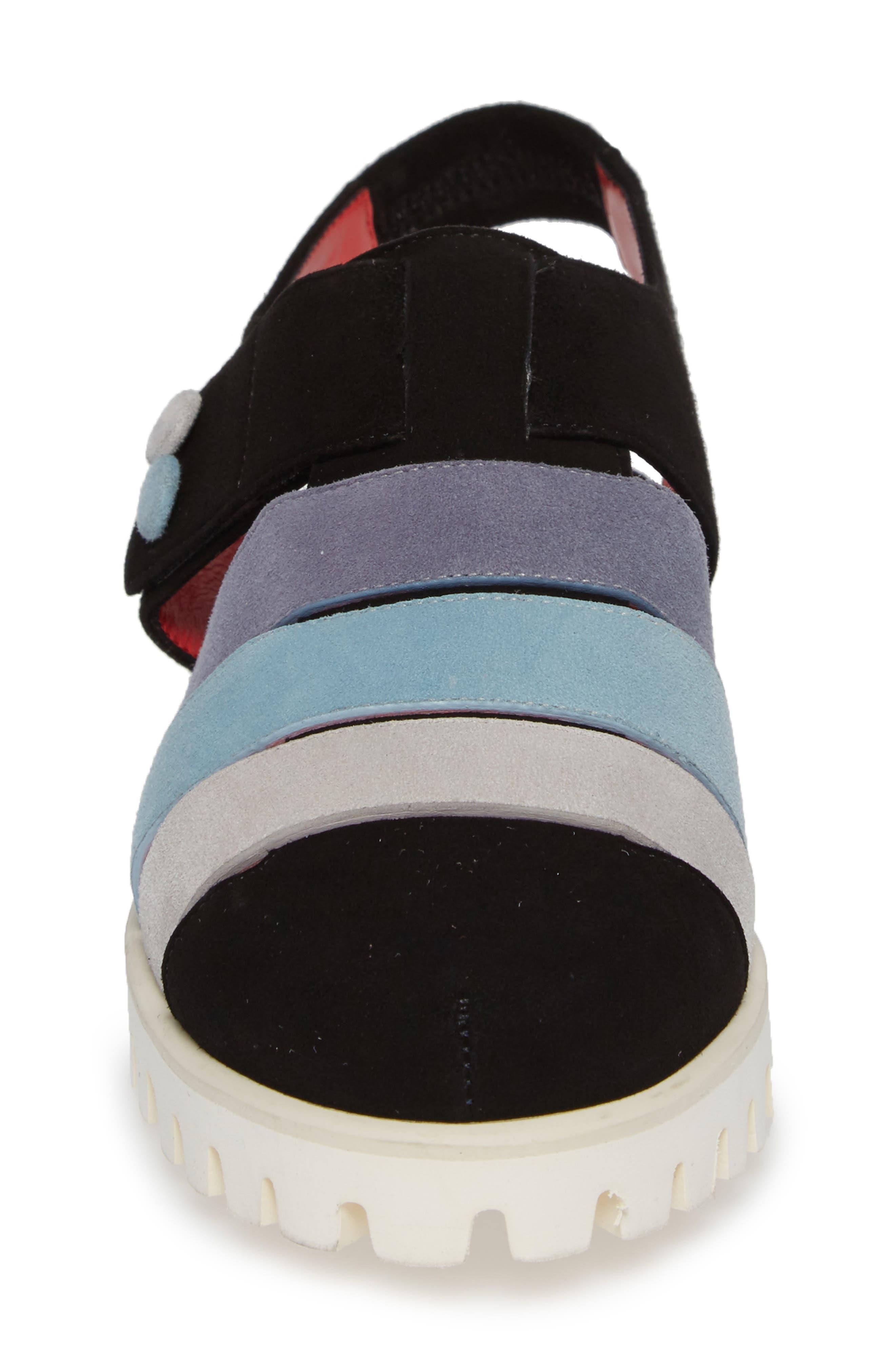 Marta Slingback Sandal,                             Alternate thumbnail 4, color,                             BLACK SUEDE