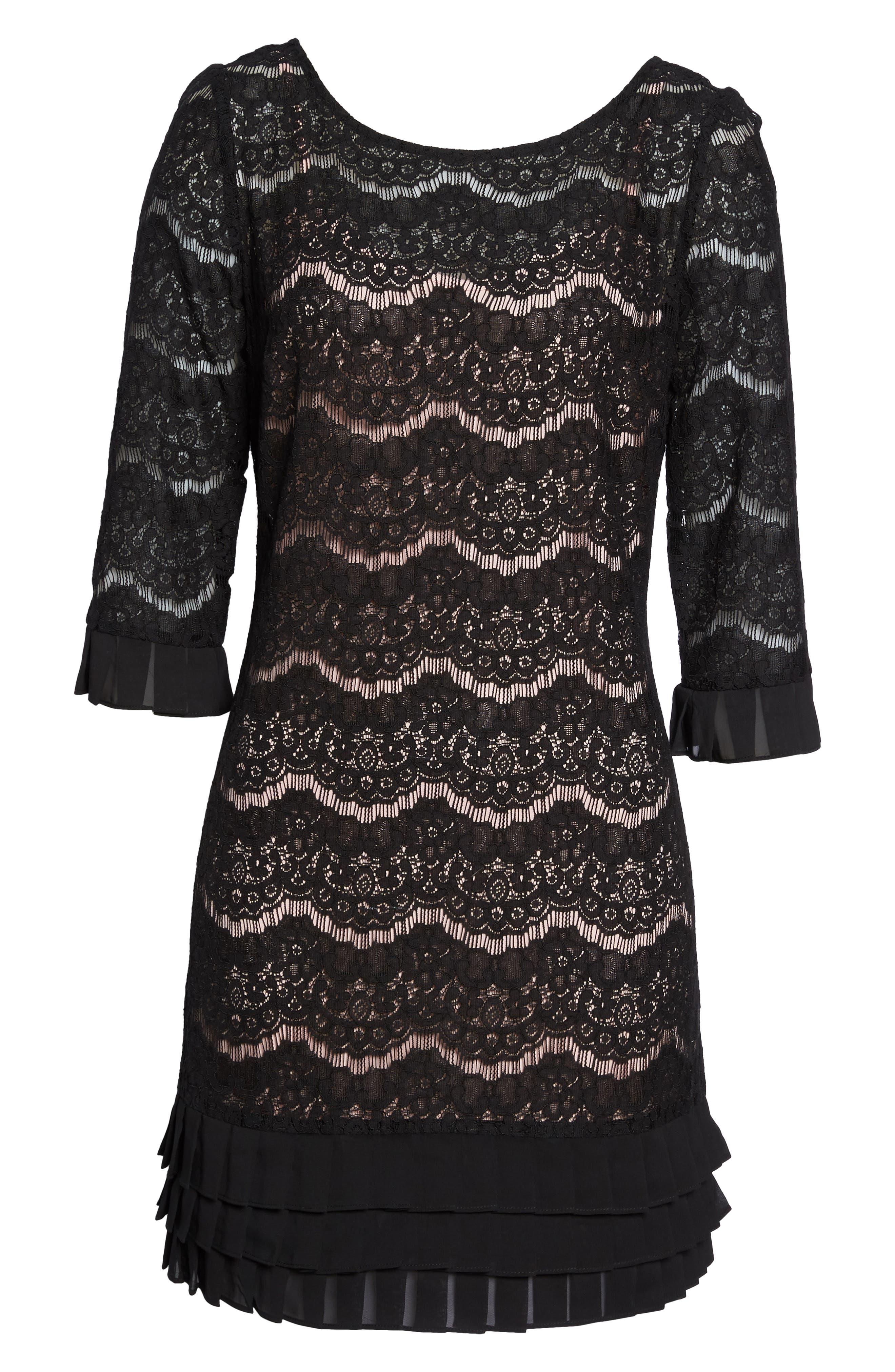 Lace Shift Dress,                             Alternate thumbnail 6, color,