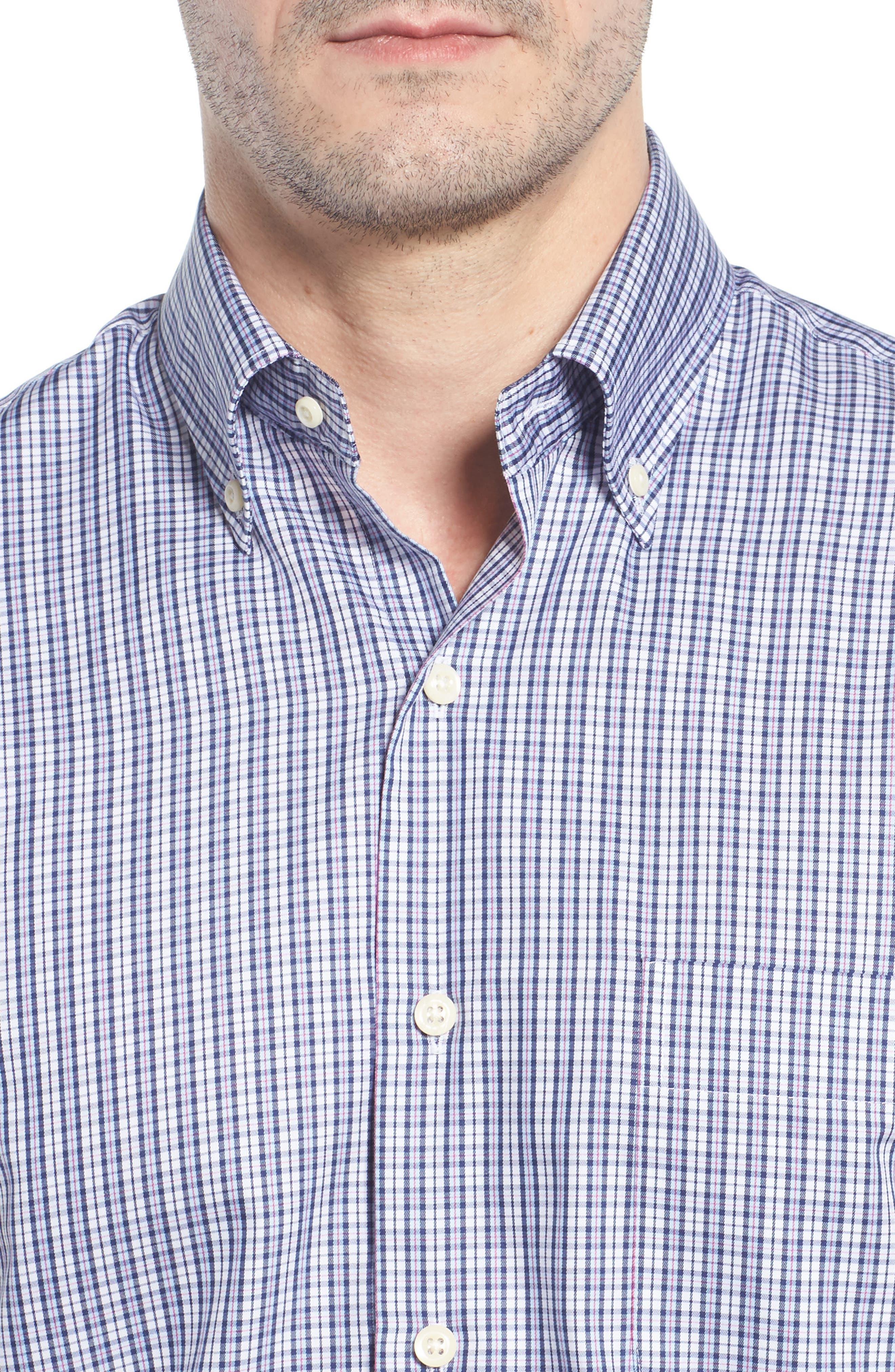 Crown Soft Carlsplaid Regular Fit Sport Shirt,                             Alternate thumbnail 4, color,                             412