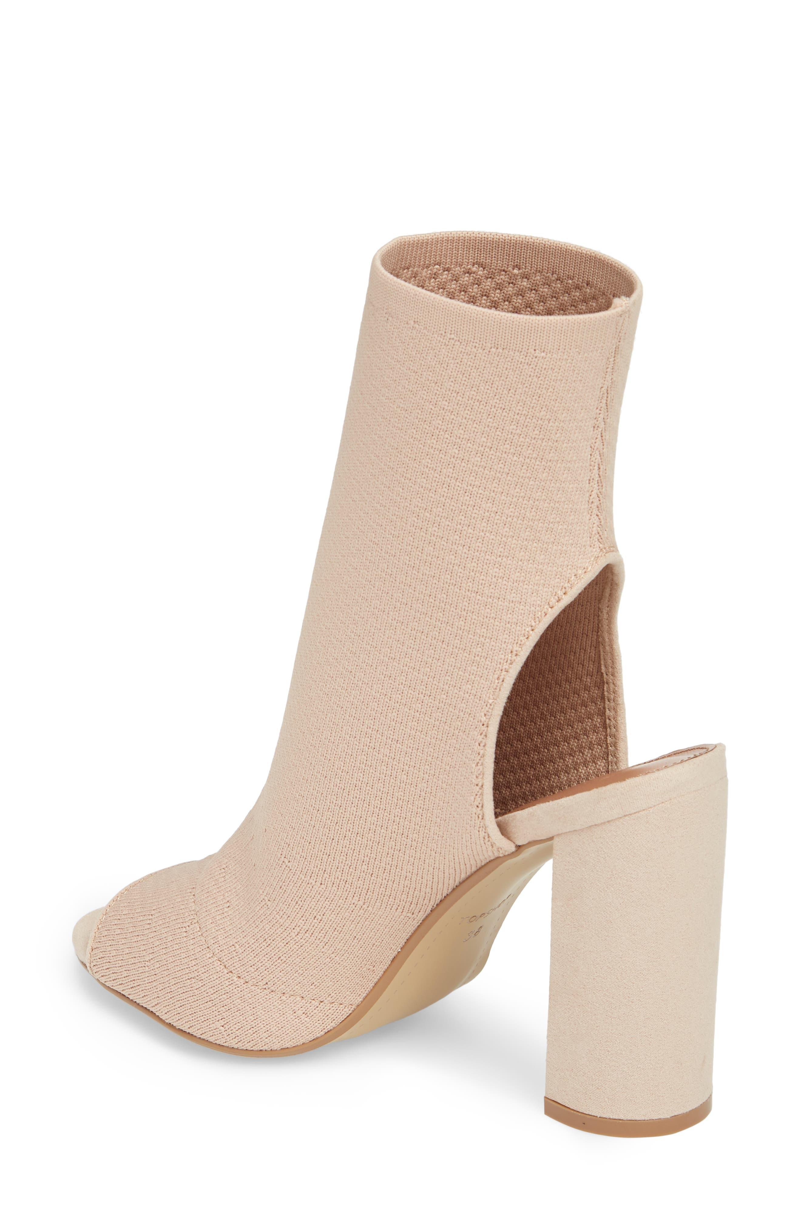 Sister Block Heel Sock Bootie,                             Alternate thumbnail 4, color,