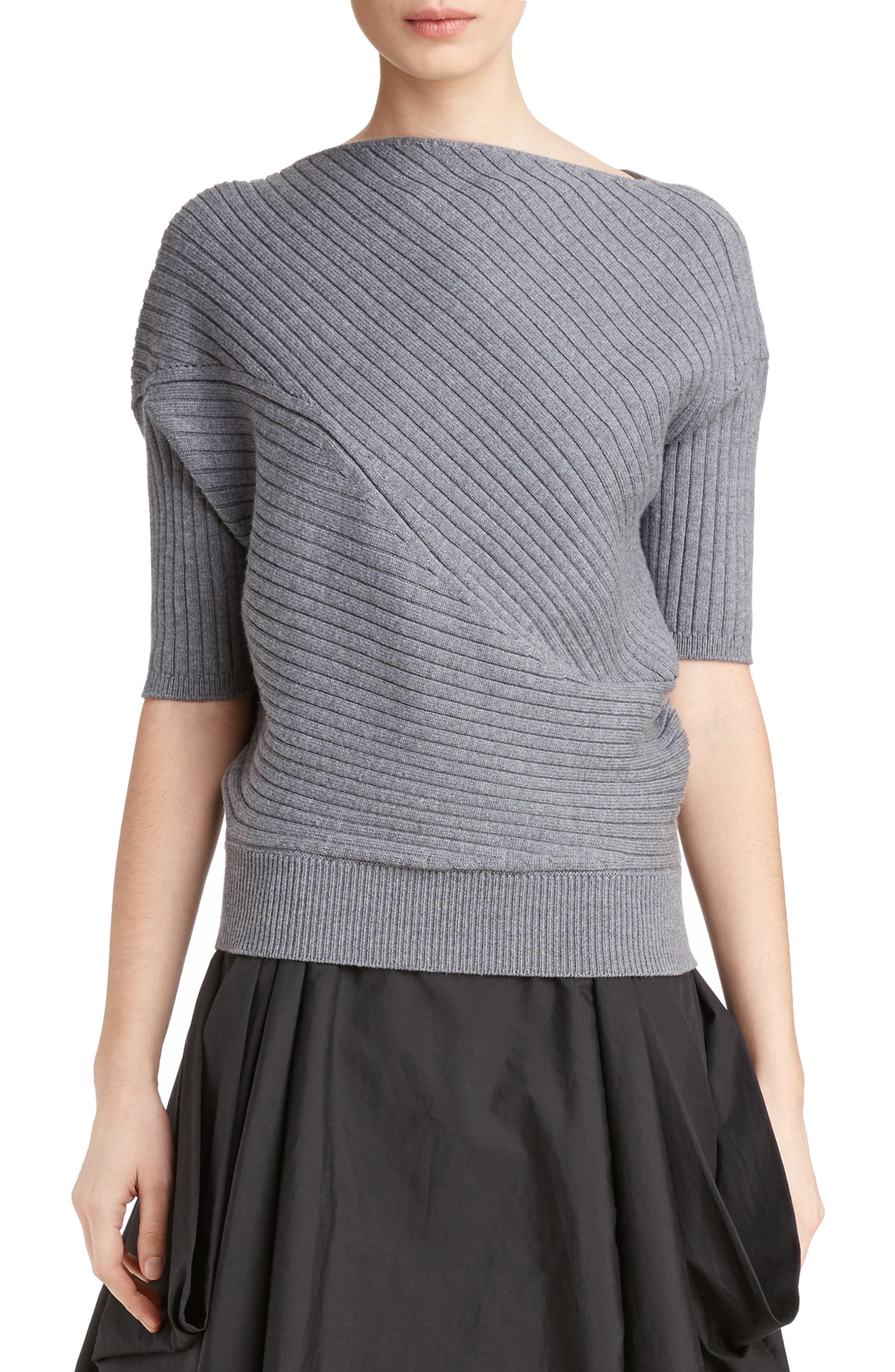 J.W.ANDERSON Infiniti Ribbed Wool Sweater,                         Main,                         color, 050