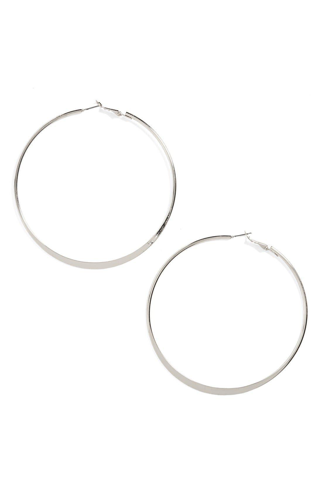 BP. Oversize Hoop Earrings, Main, color, 040