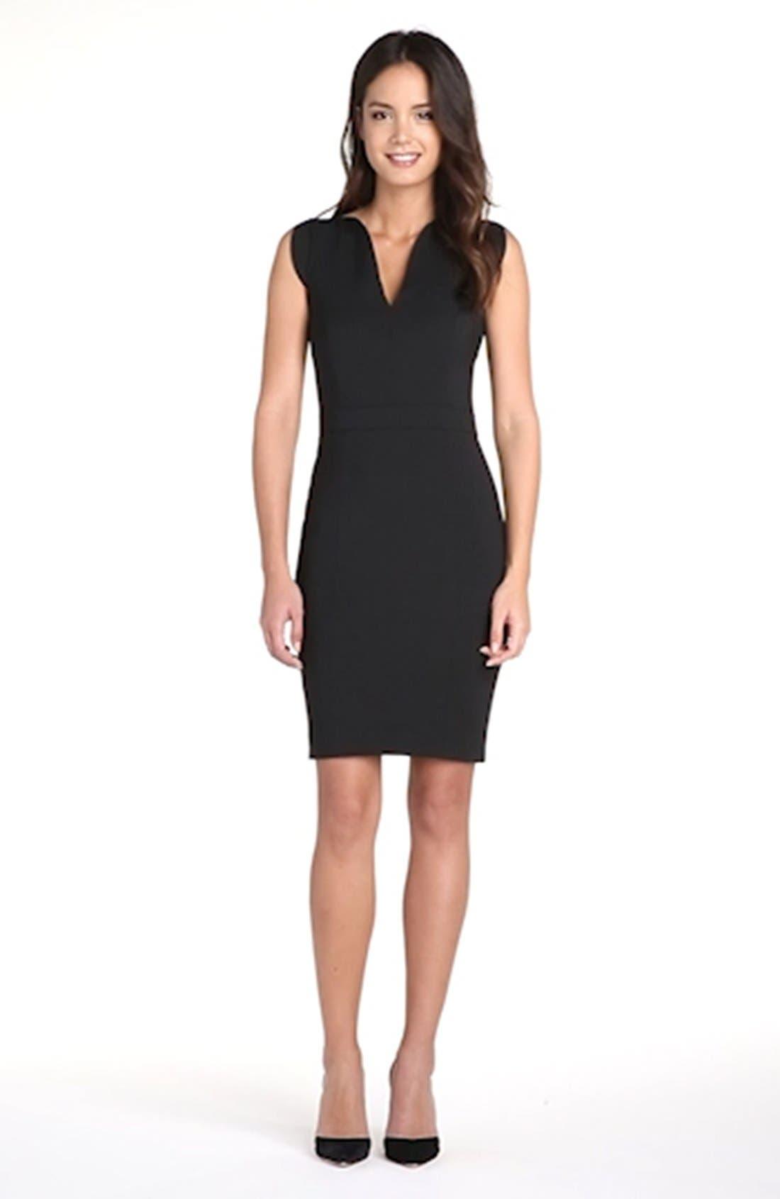 'Lolo' Stretch Sheath Dress,                             Alternate thumbnail 9, color,                             BLACK