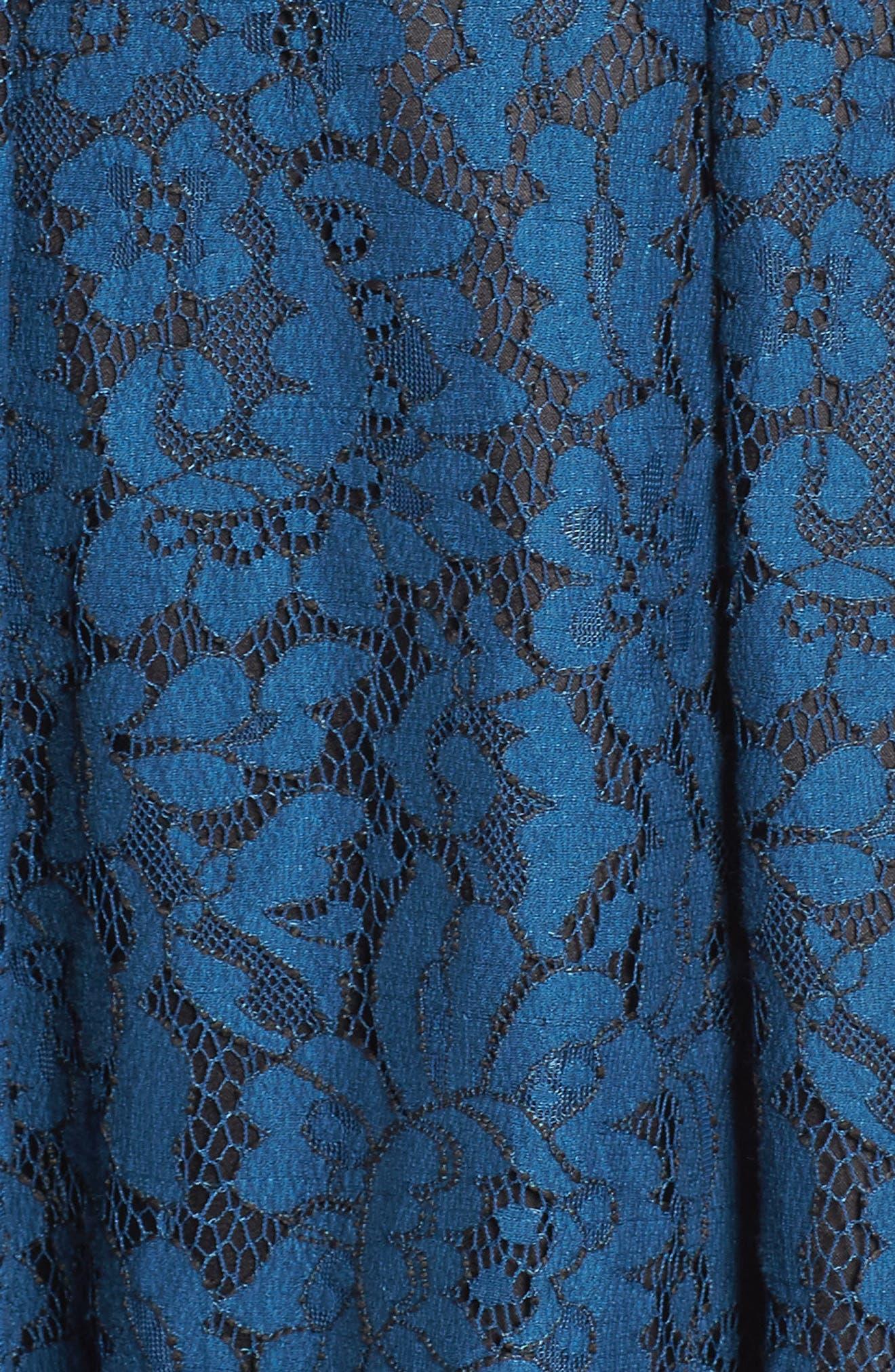 Lace Fit & Flare Dress,                             Alternate thumbnail 12, color,