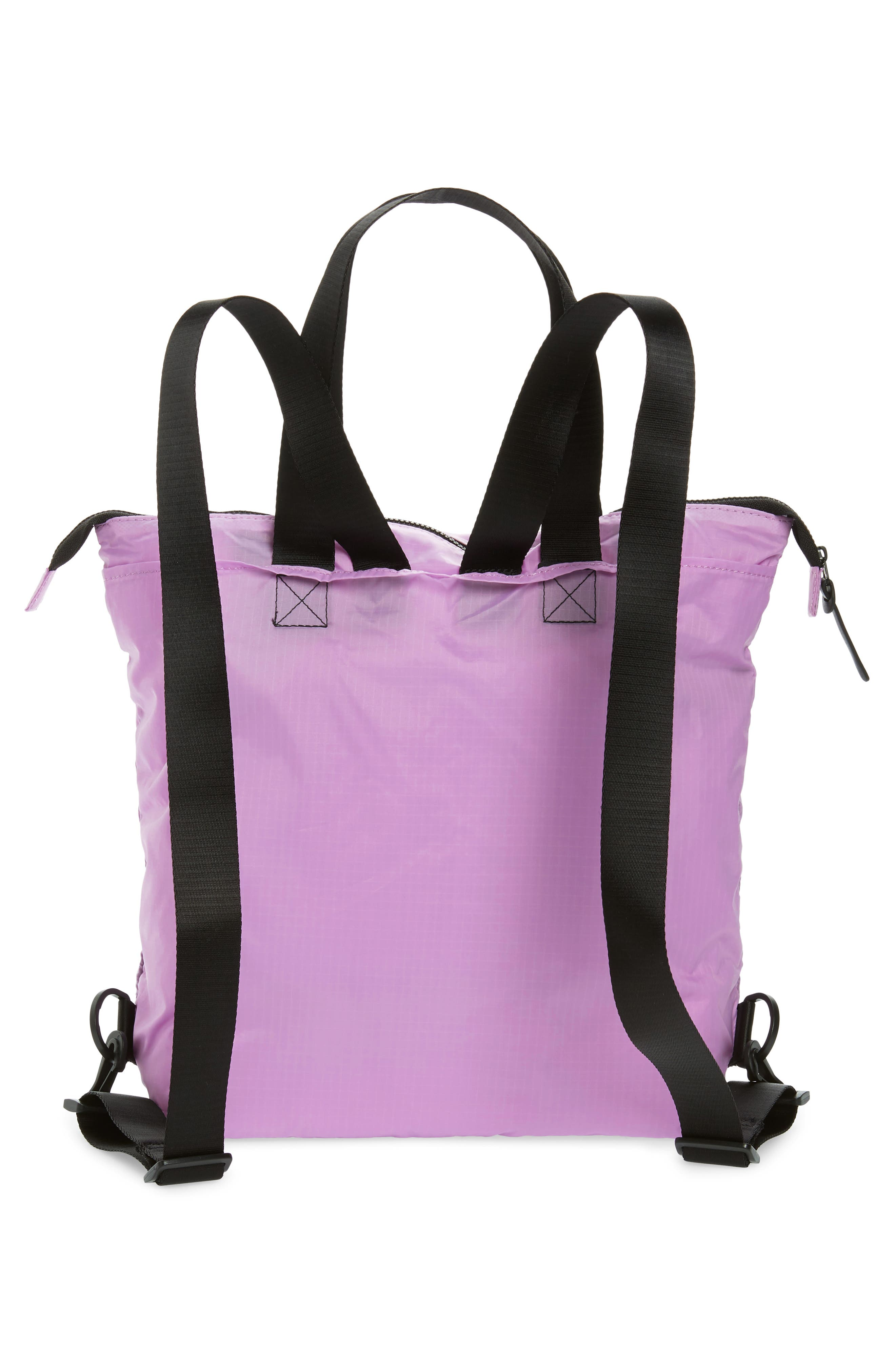 Packable Convertible Backpack,                             Alternate thumbnail 4, color,                             LAVENDER SWEET