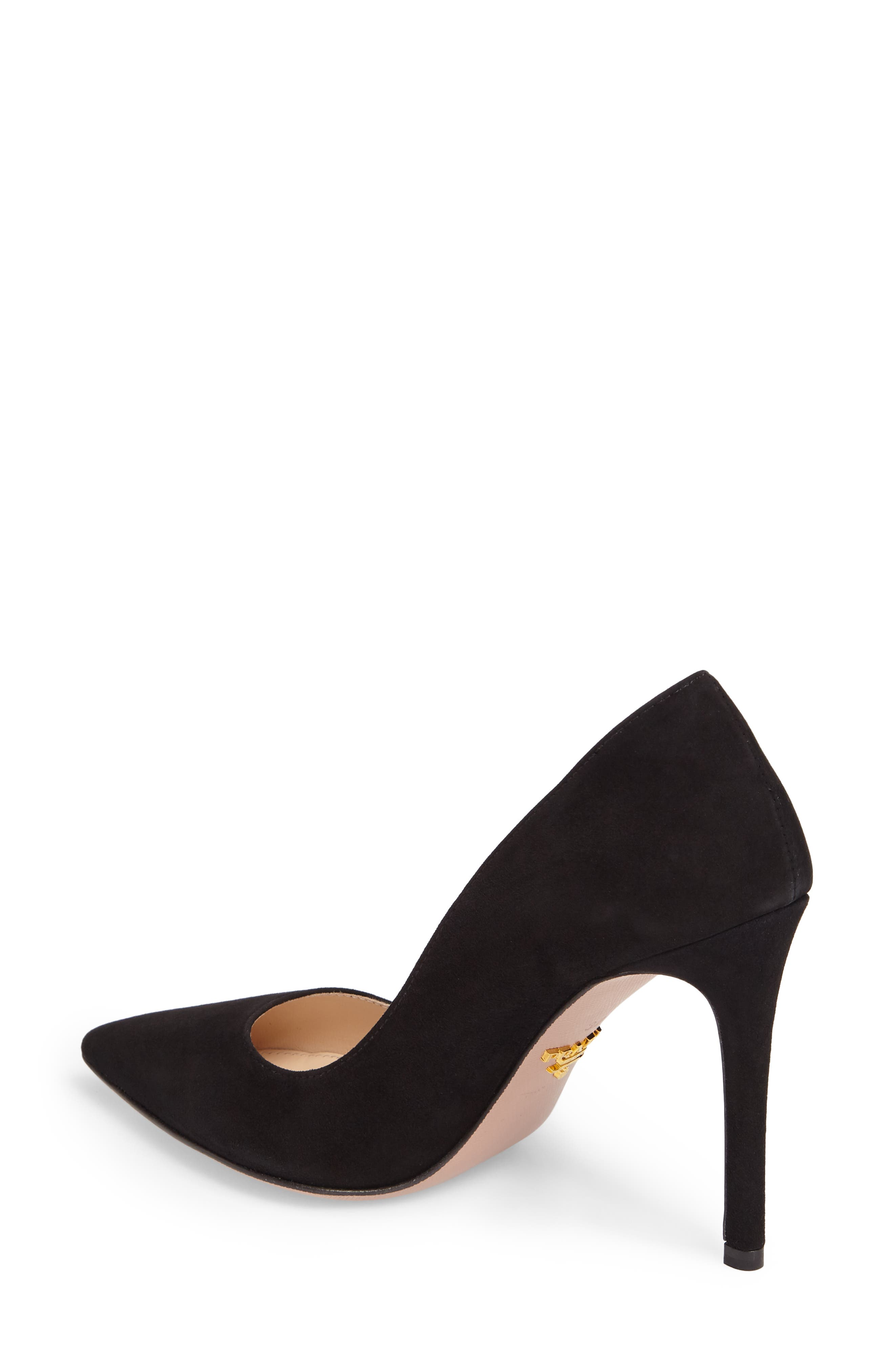Pointy Toe Pump,                             Alternate thumbnail 2, color,                             BLACK