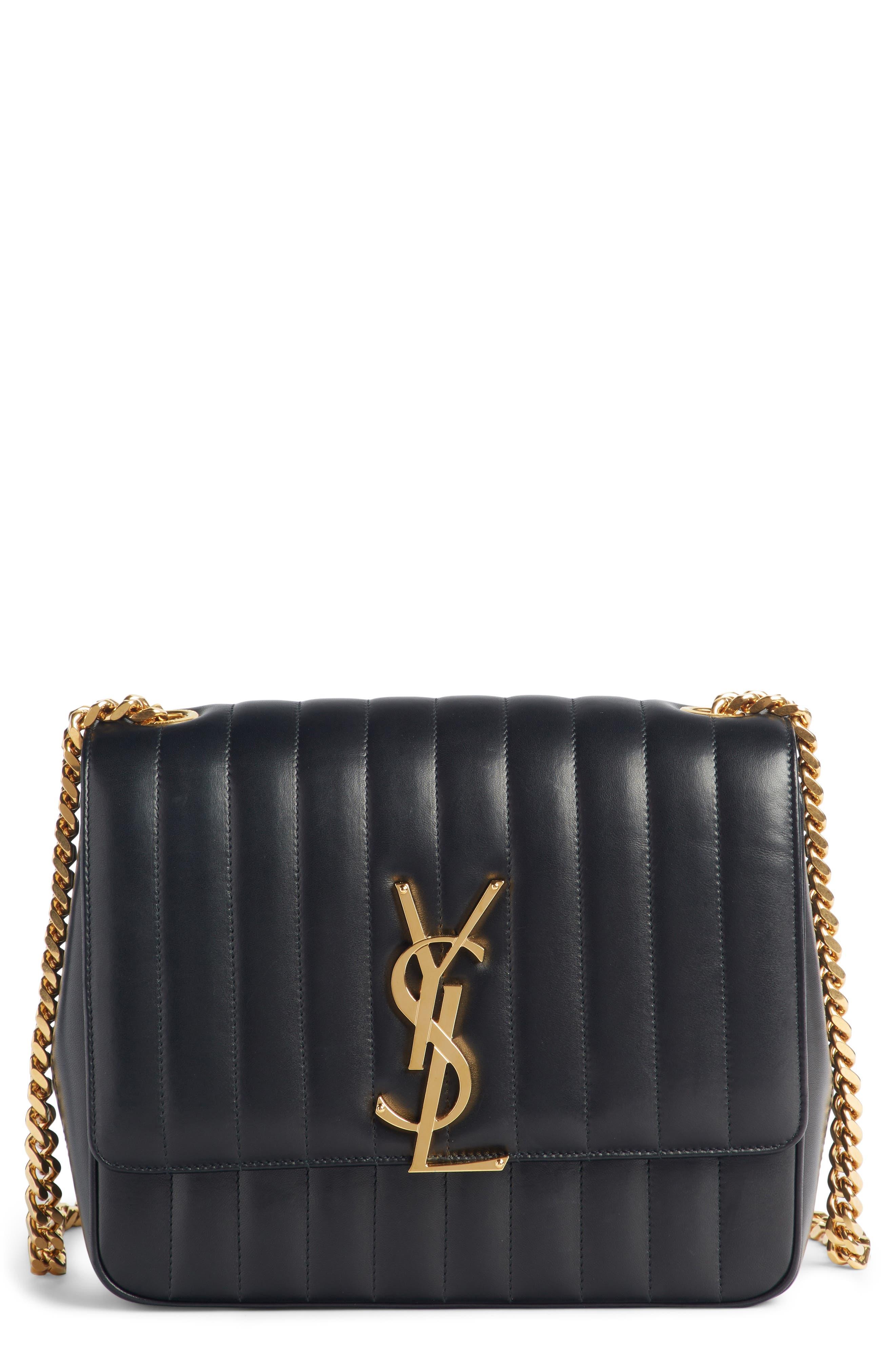 Large Vicky Leather Crossbody Bag,                         Main,                         color, NOIR