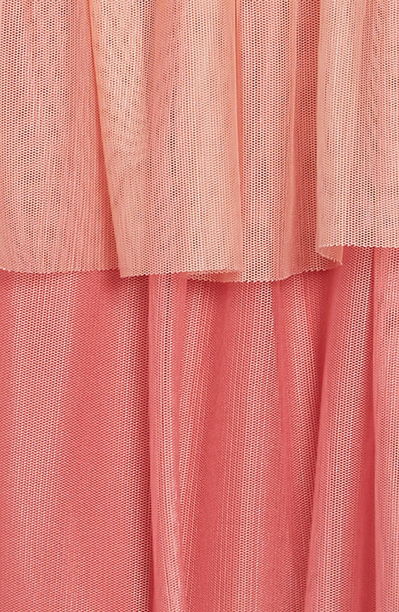 Jersey & Tulle Dress,                             Alternate thumbnail 3, color,                             ROSE PINK OMBRE