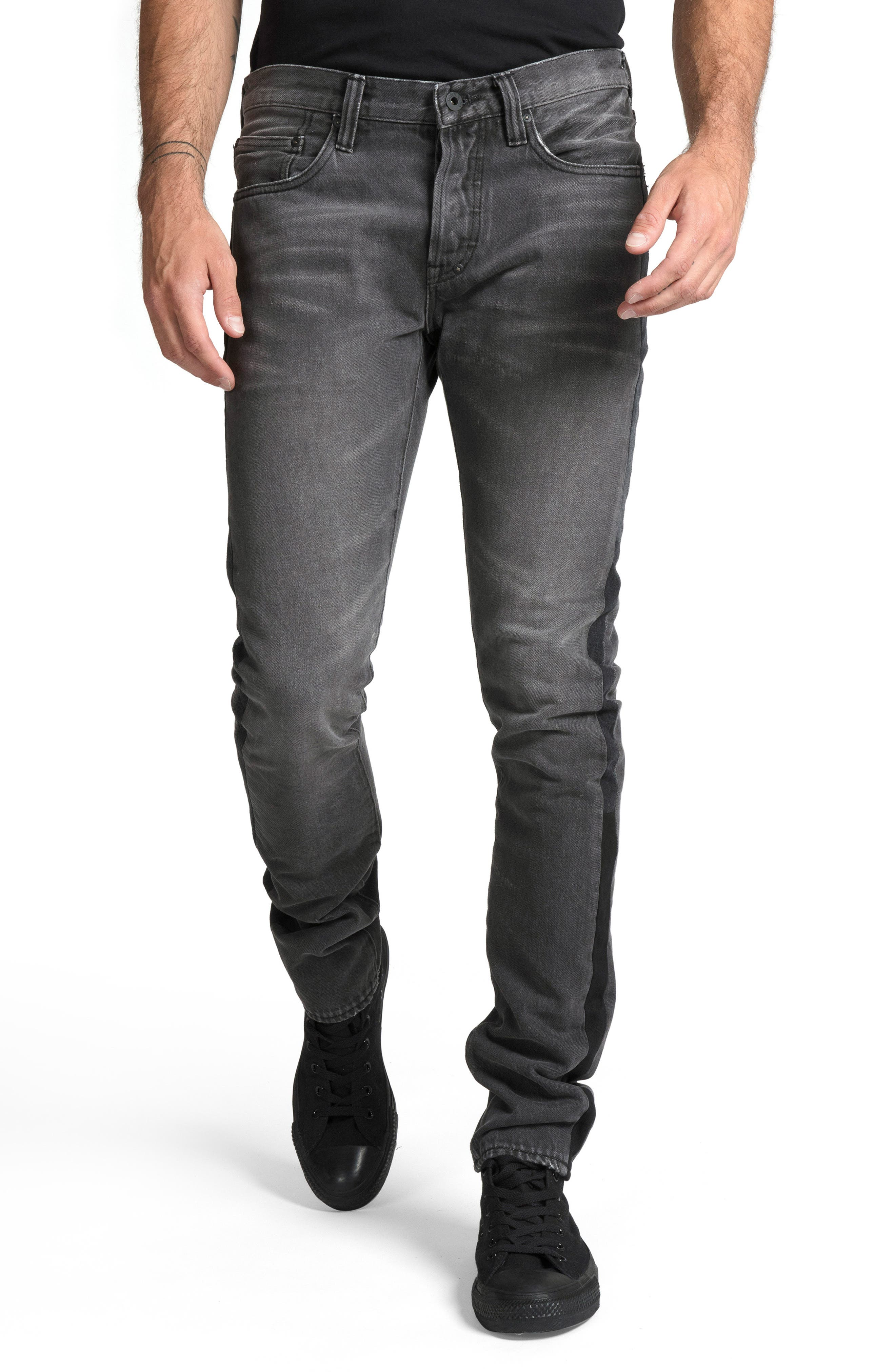 Le Sabre Slim Fit Jeans,                             Main thumbnail 1, color,                             ABHORRENT