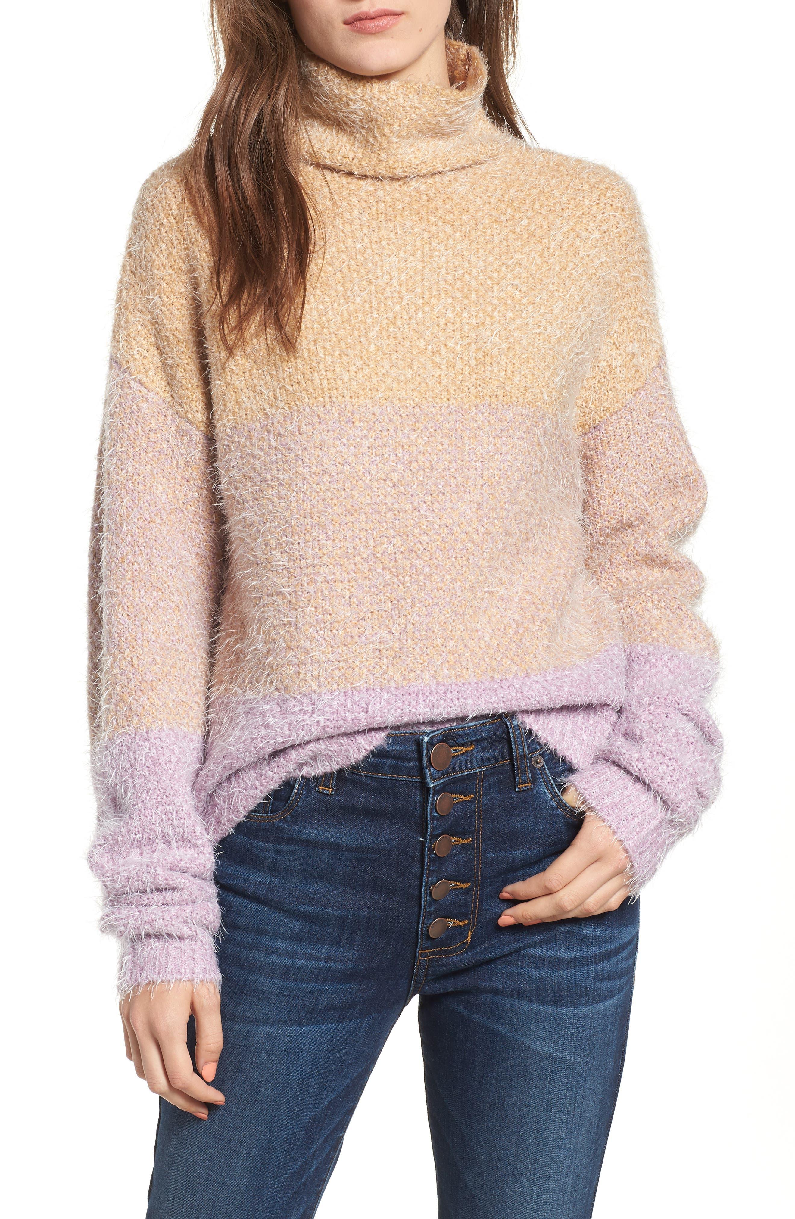 Ombré Eyelash Sweater, Main, color, 680