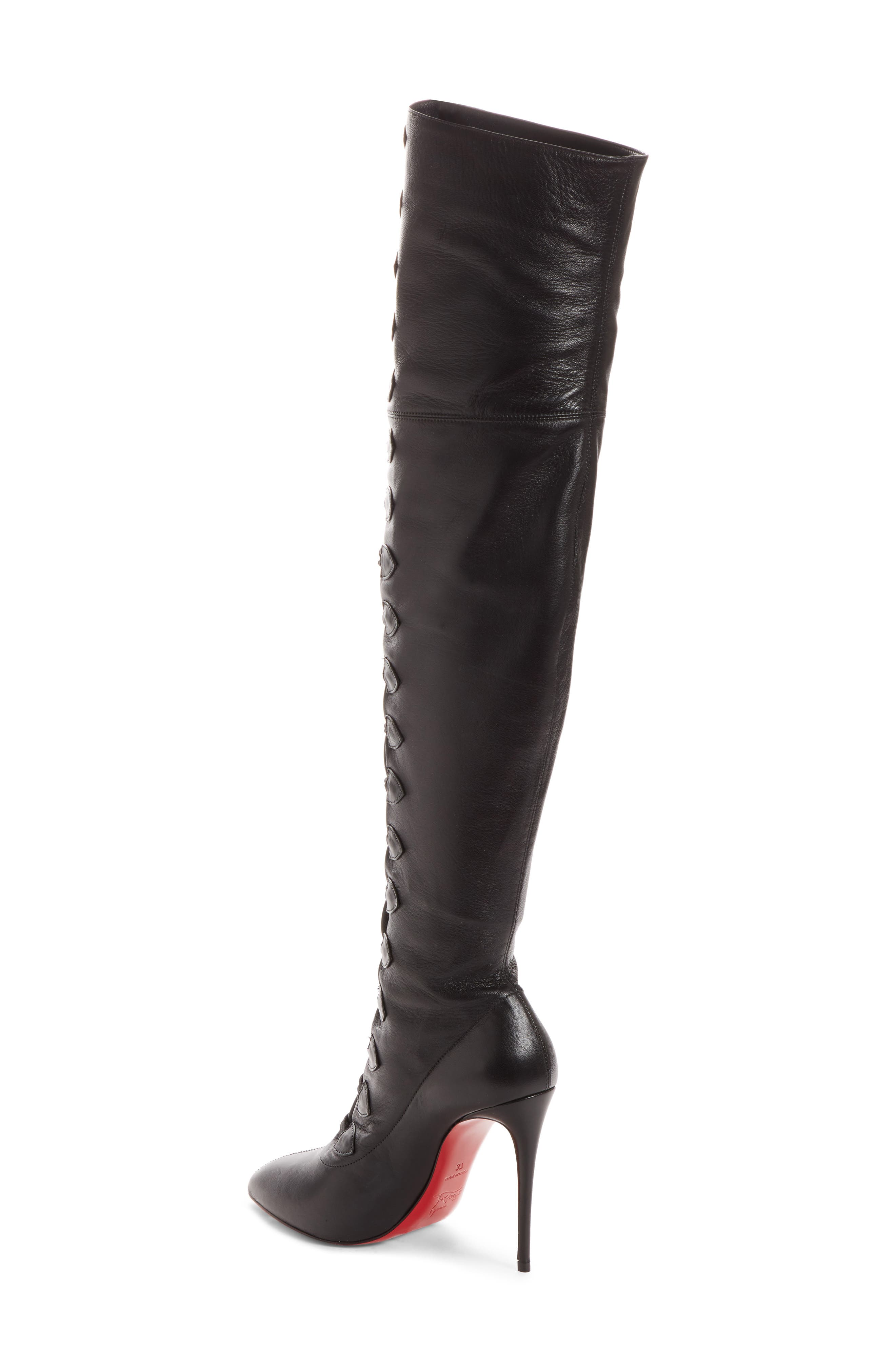 French Tutu Over the Knee Boot,                             Alternate thumbnail 2, color,                             001