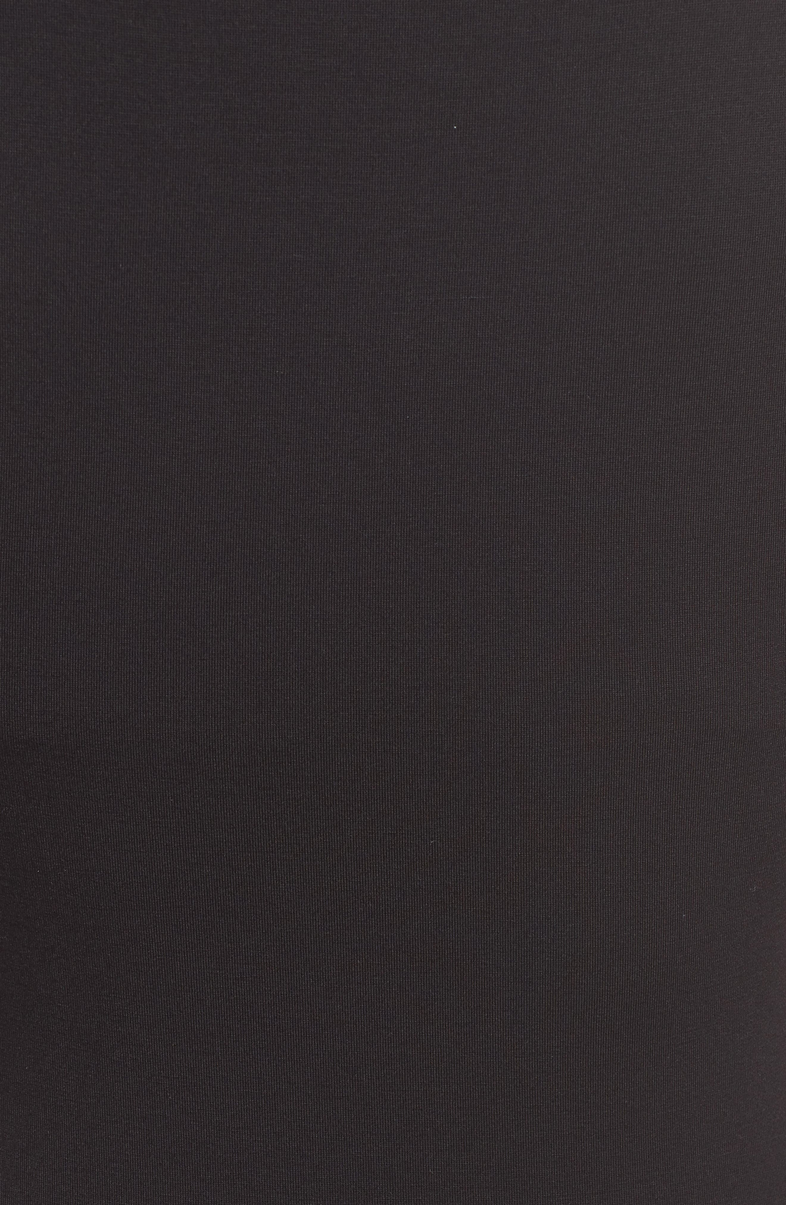 Tie Waist Body-Con Dress,                             Alternate thumbnail 6, color,                             BLACK