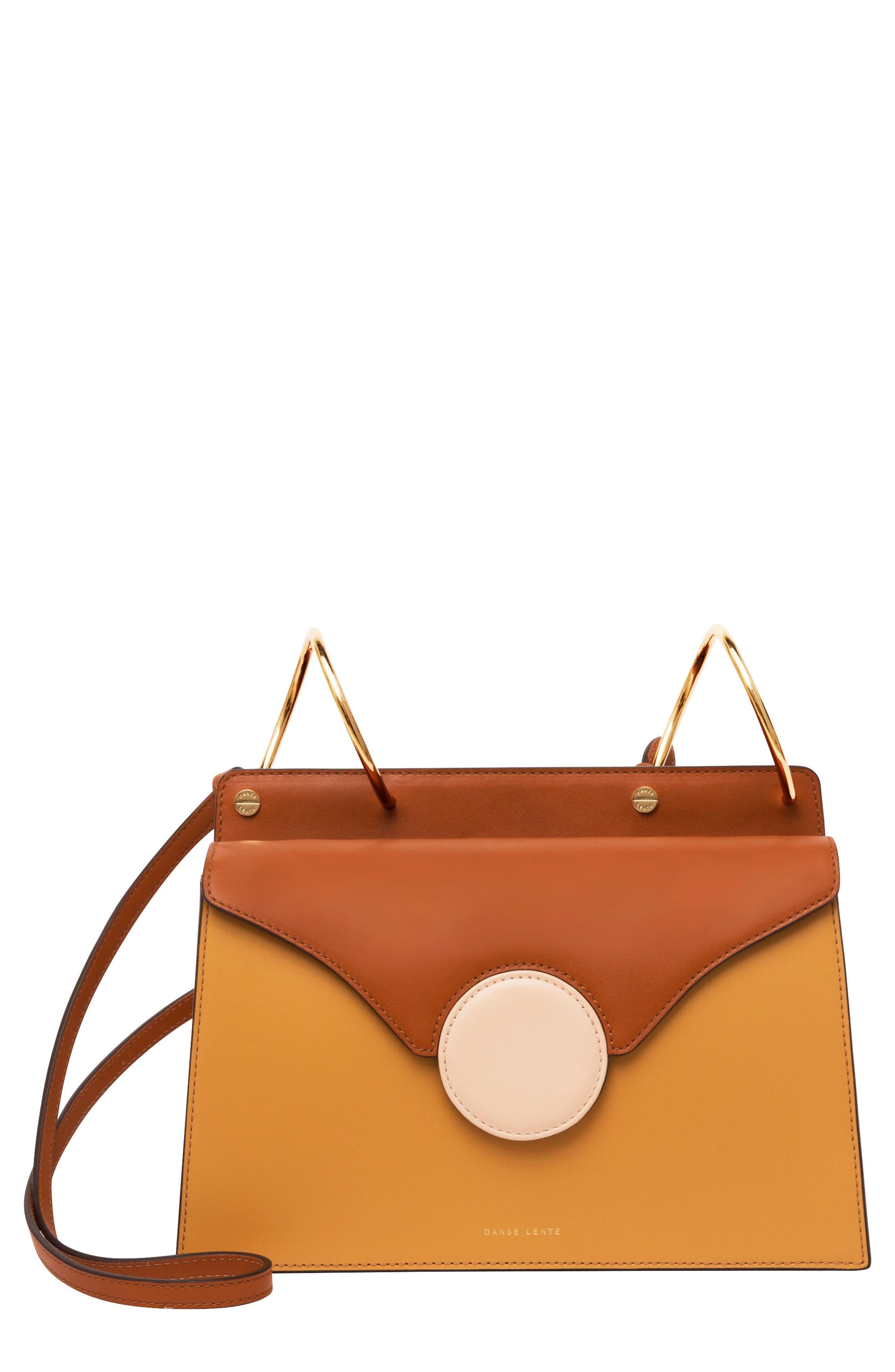 Phoebe Leather Crossbody Bag,                             Main thumbnail 1, color,                             SAND/ AMBER