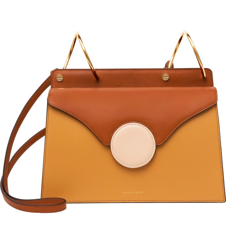 Danse Lente PHOEBE LEATHER CROSSBODY BAG - BROWN